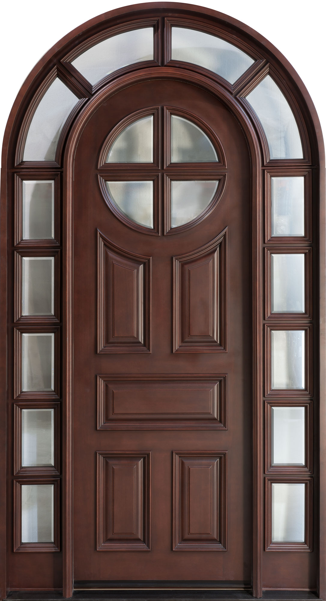 Front Door, Design: Single with 2 Sidelites, Solid Mahogany Wood ...