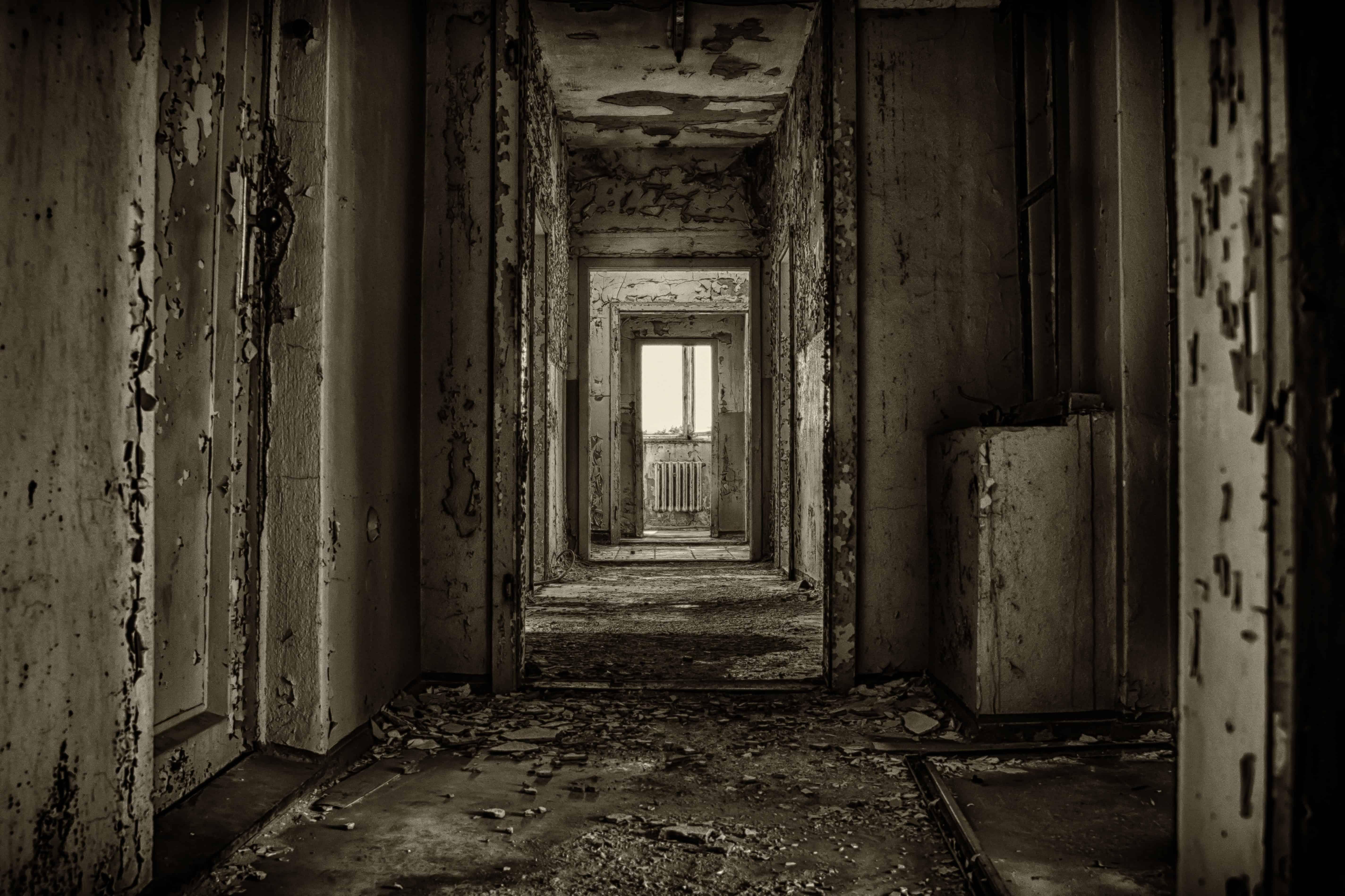 Free picture: dark, old, door, derelict, shadow, darkness, doorway ...