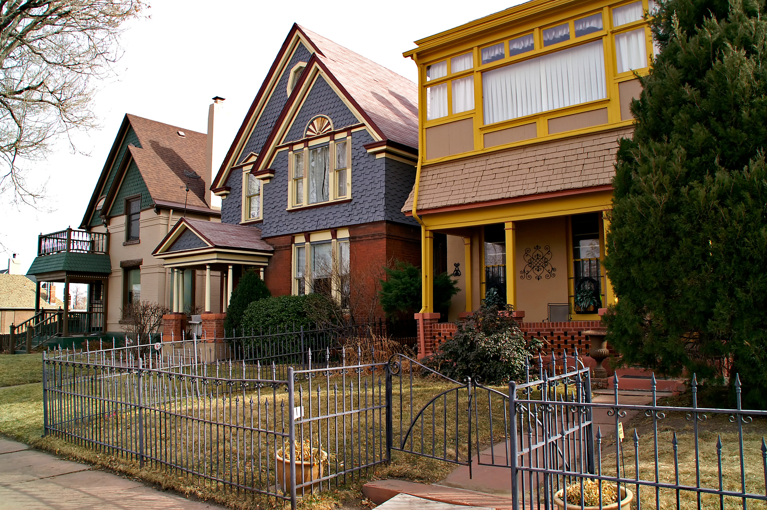 Downtown denver residential houses photo