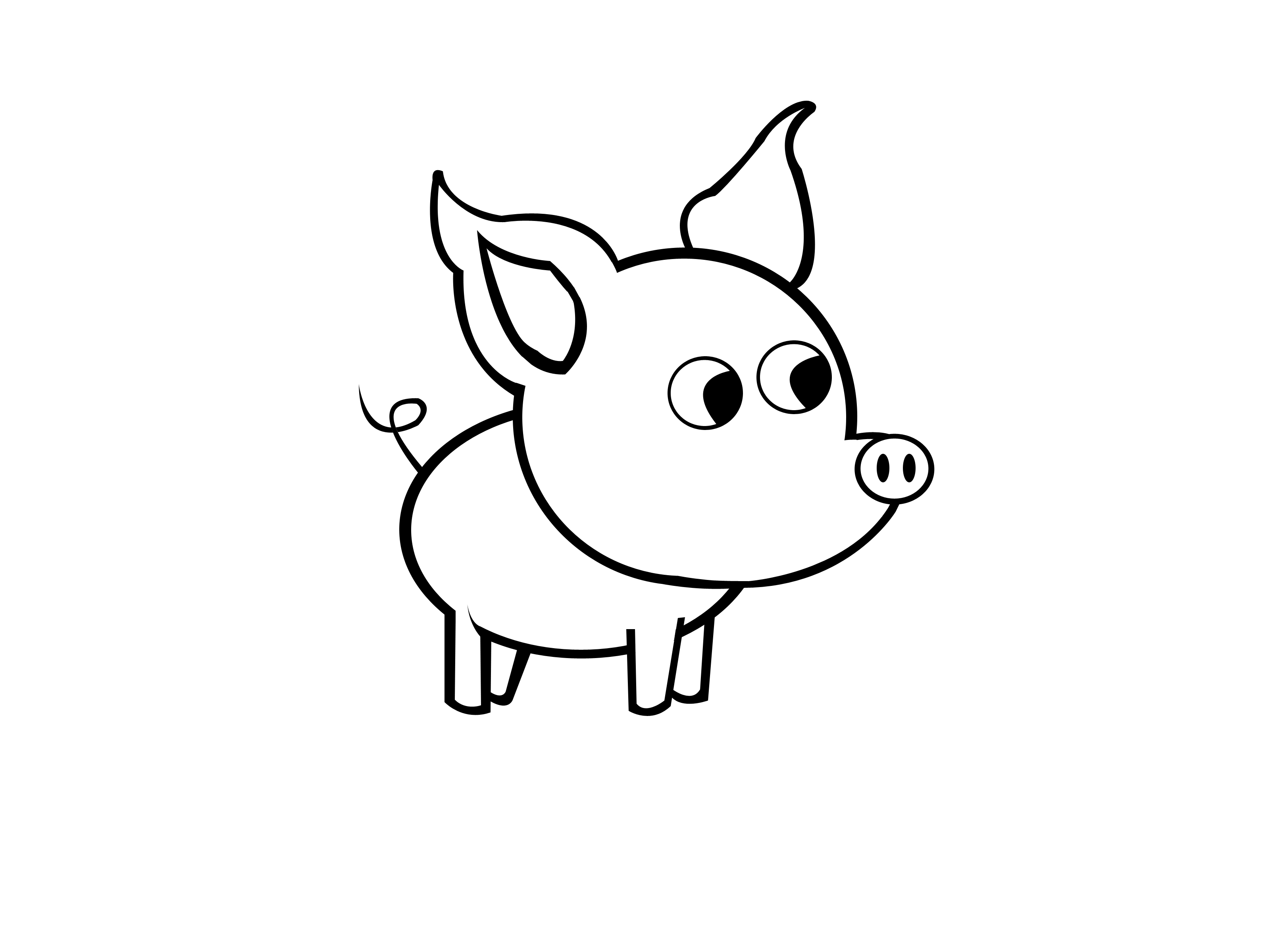 How to Draw a Simple Pig: 9 Steps (with Pictures) - wikiHow
