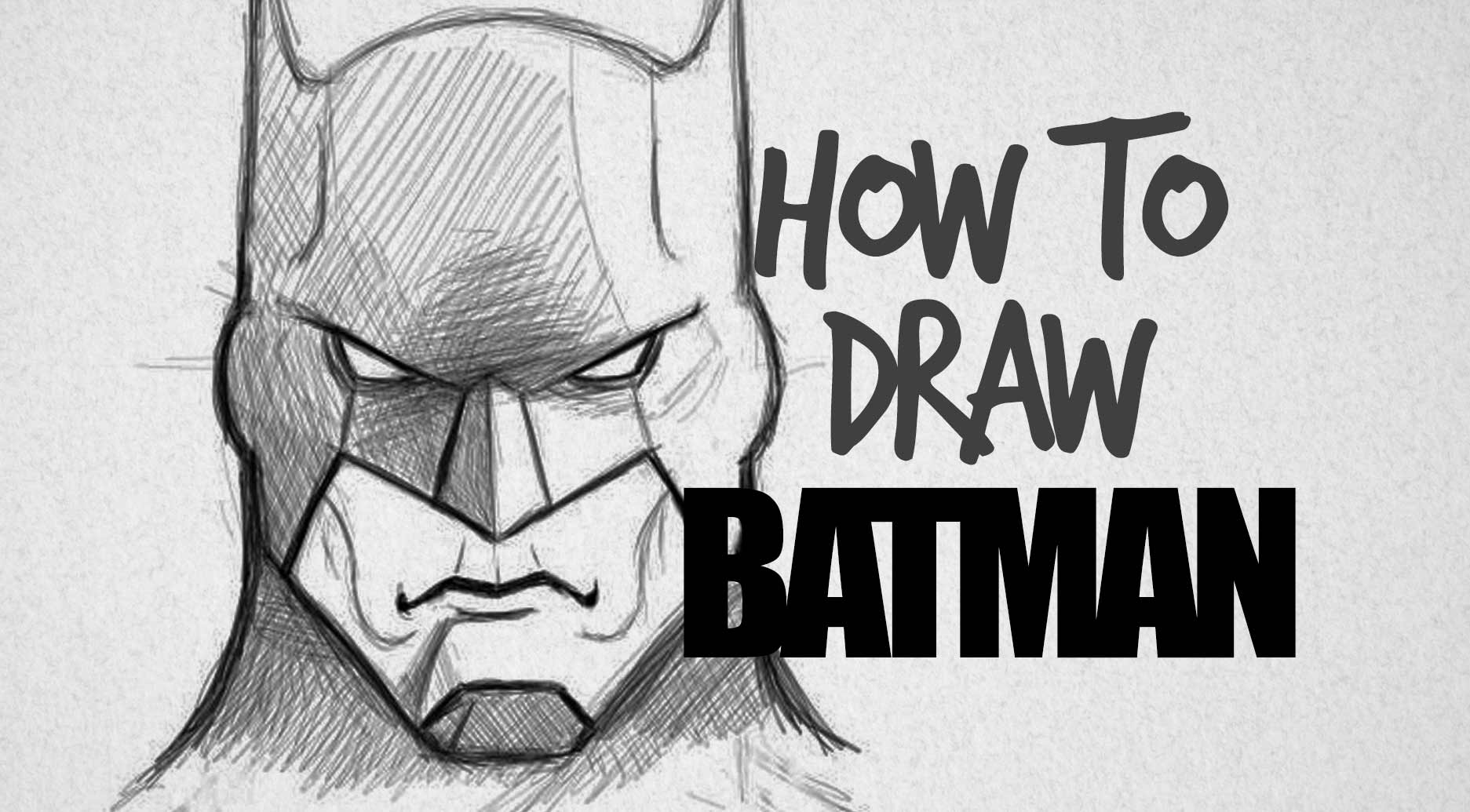 How to draw Batman - Drawing Factory