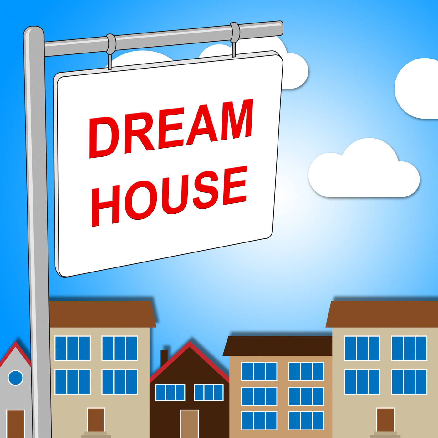 Dream House Indicates Displaying Desired And Ultimate, Signboard, Placard, Properties, Property, HQ Photo