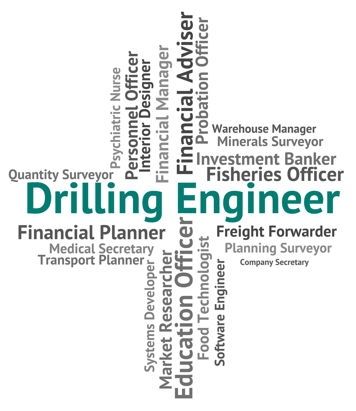 Drilling Engineer Shows Oil Well And Career, Boring, Mechanics, Words, Word, HQ Photo