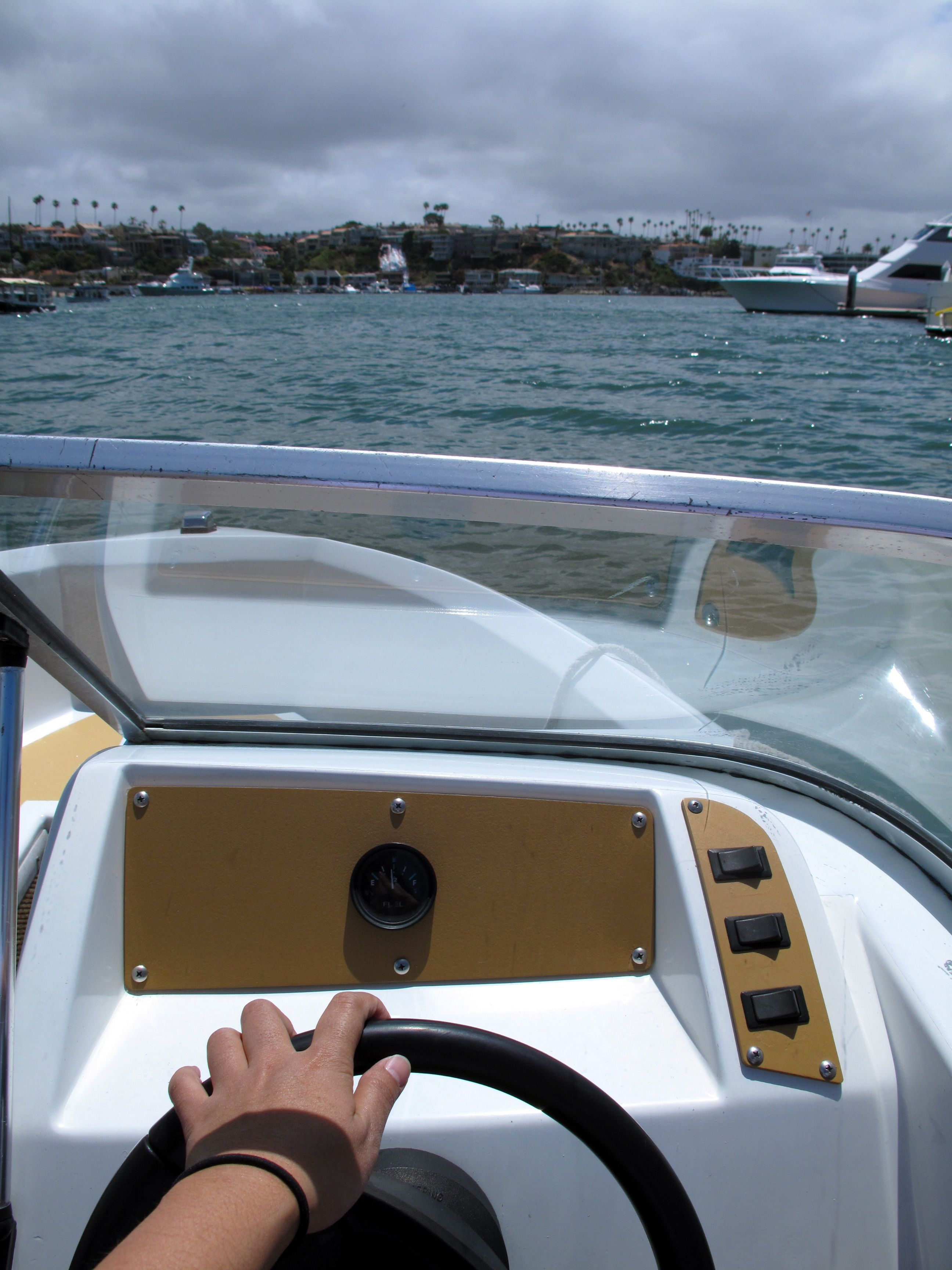 Driving my boat photo