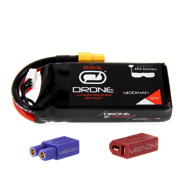 Amazon.com: Venom 50C 3S 1300mAh 11.1V Drone Racing LiPo Battery ...