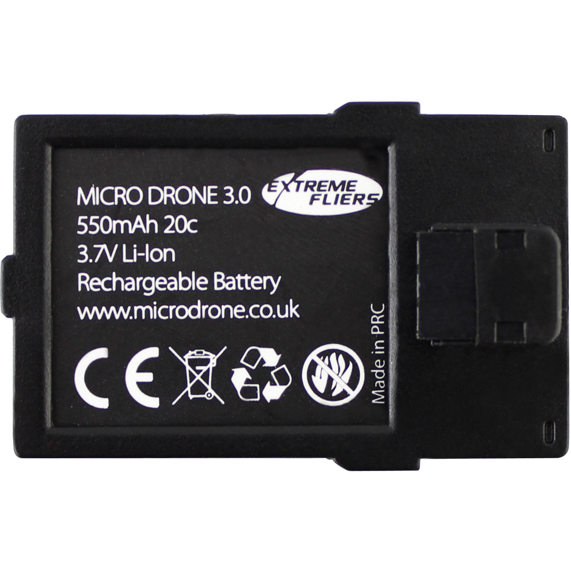 Extreme Fliers 550mAh LiPo Flight Battery for Micro Drone BA550