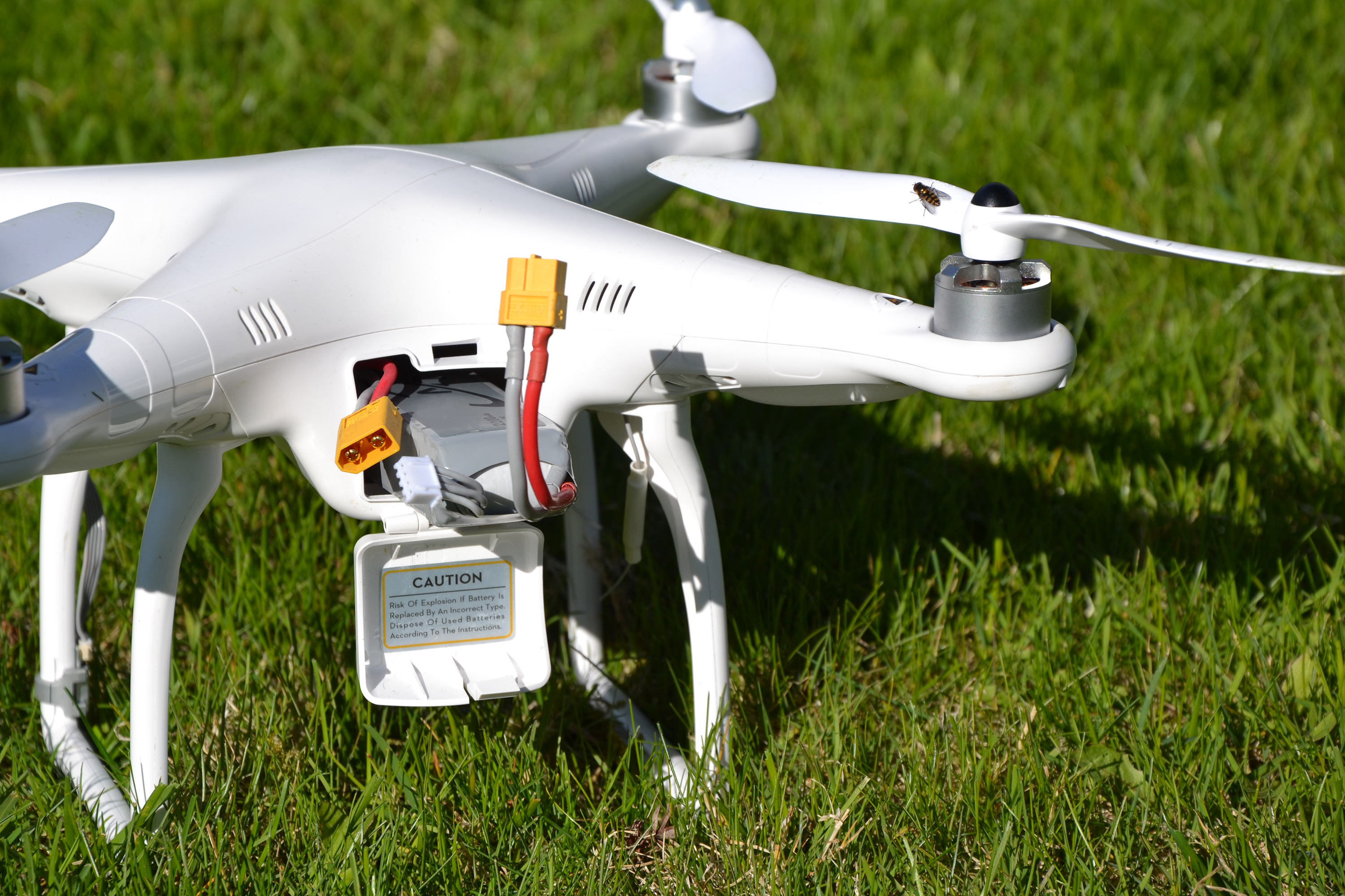 Drone with battery photo