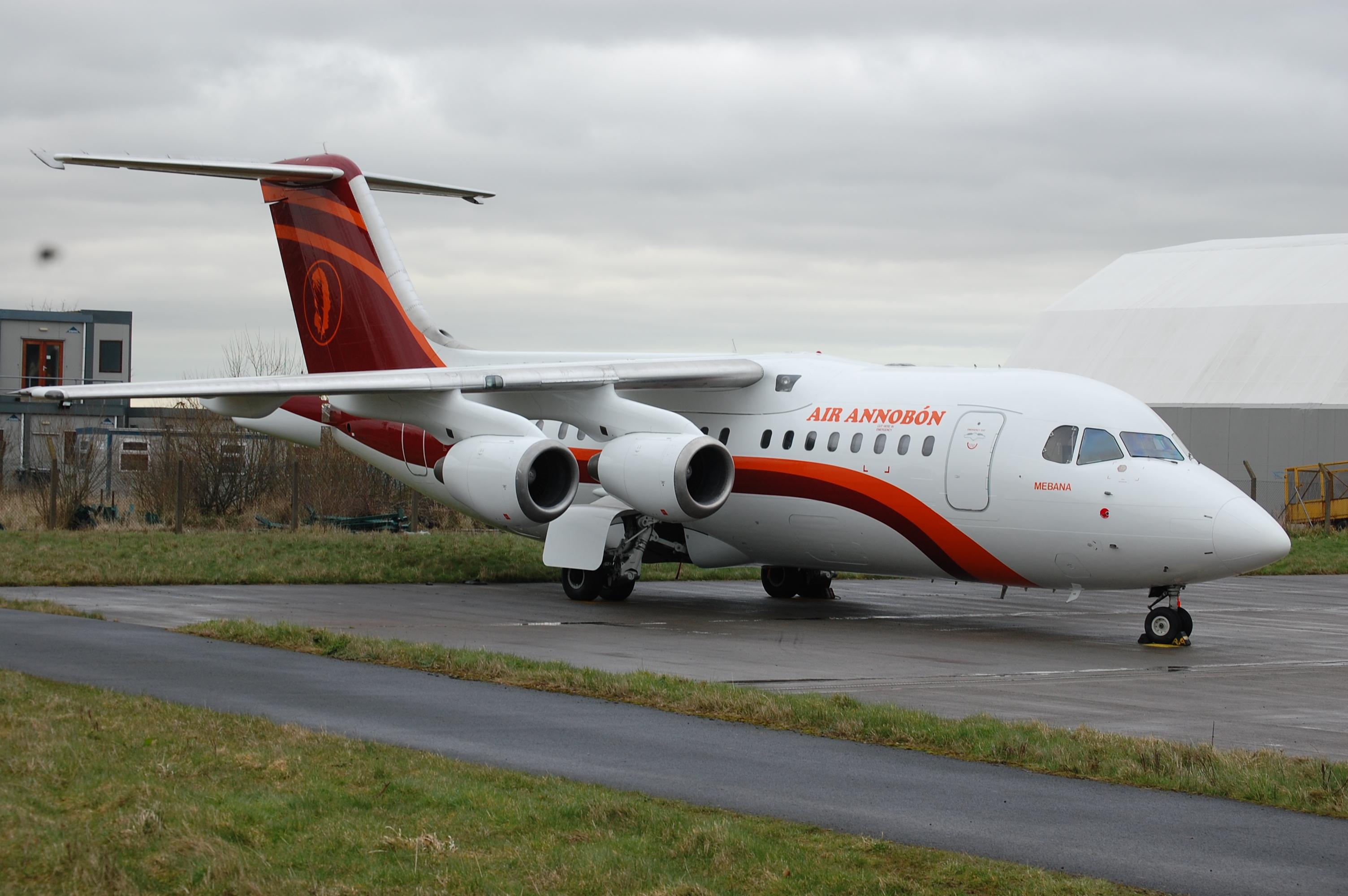 Dublin 2014_0065 EI-RJS RJ-85----Air Annobon, Aircraft, Airliner, Airplane, Dublin, HQ Photo