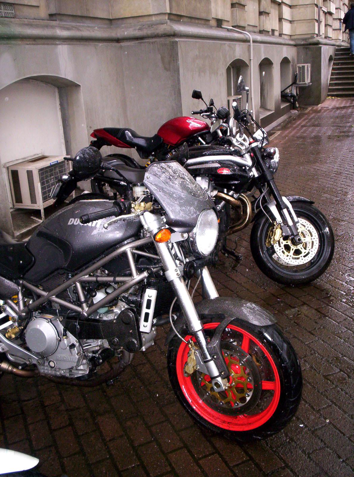 Ducati in the rain photo