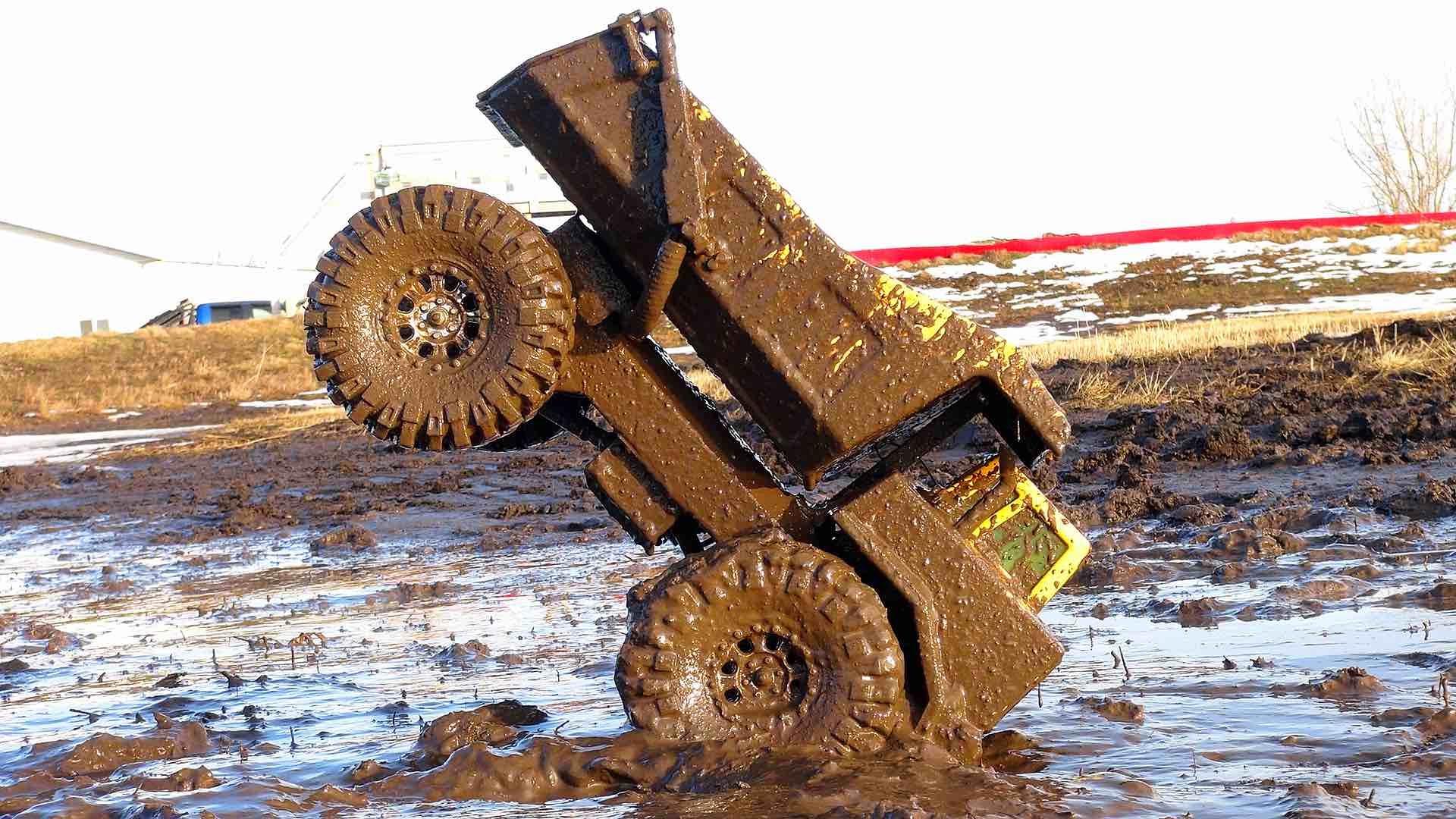 RC ADVENTURES - Mega Muddy Tonka Dump Truck Stomping Grounds - YouTube