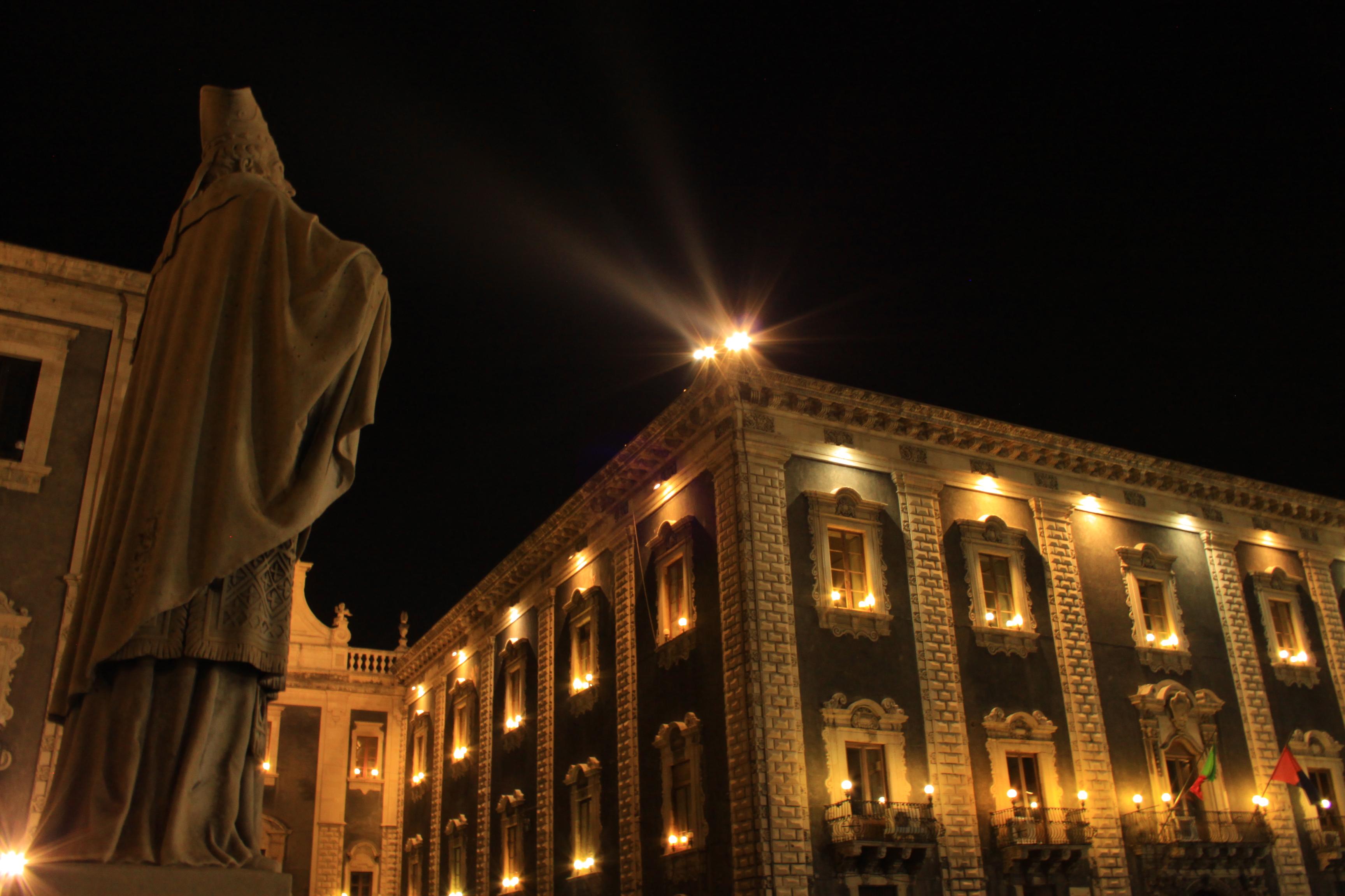 Duomo di Catania, Architecture, Black background, Building, City, HQ Photo