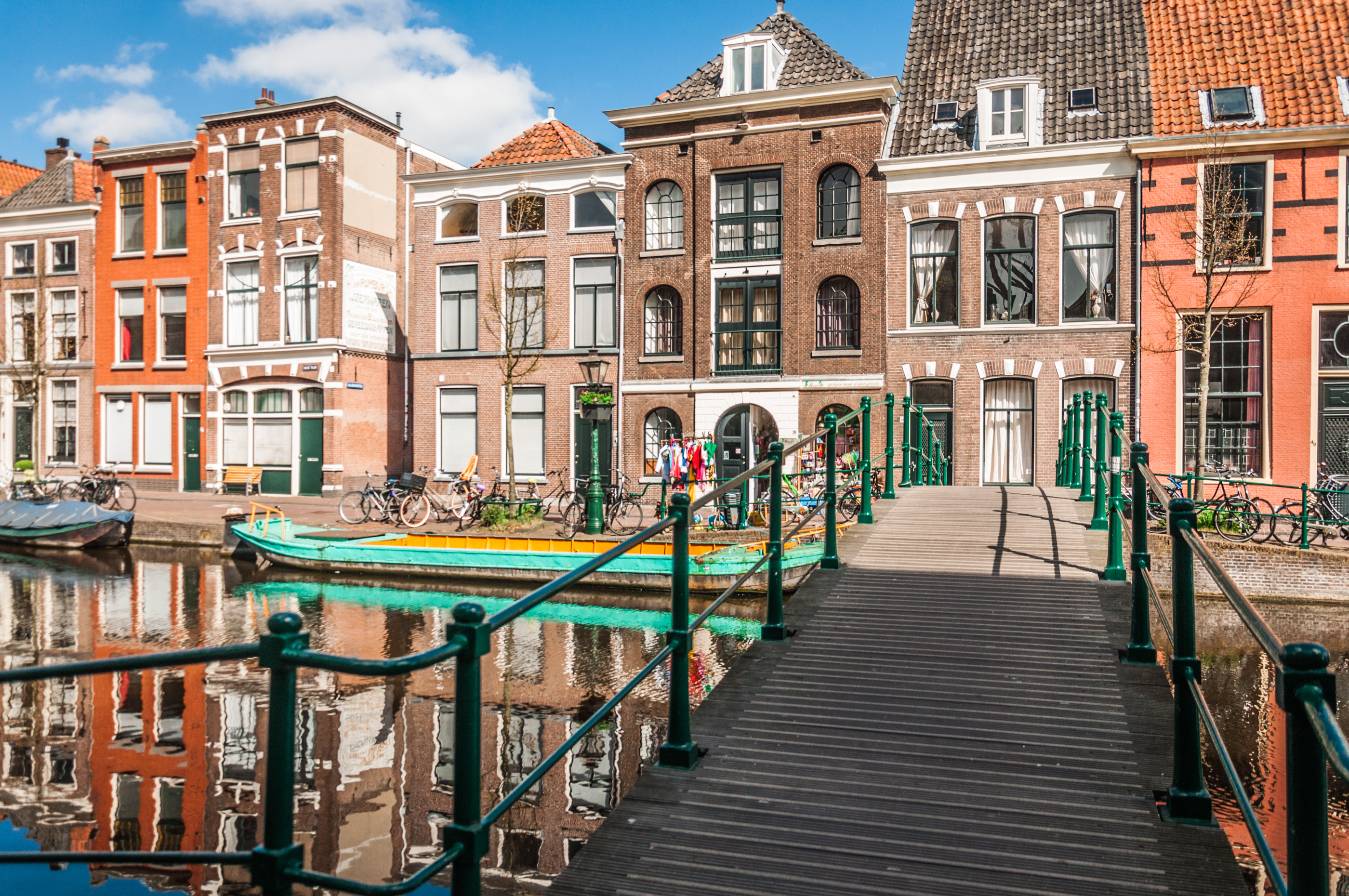 Dutch canal and houses photo
