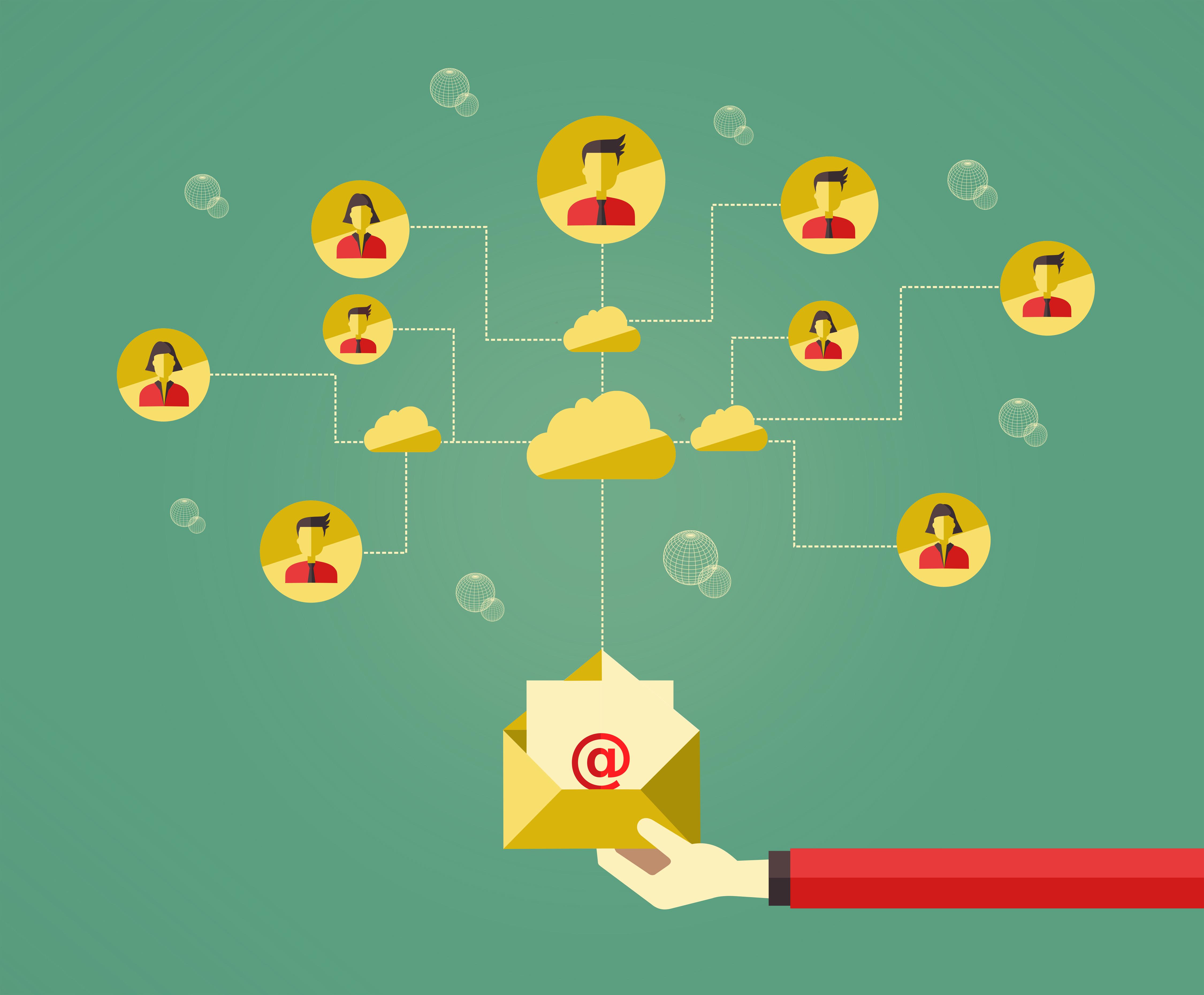 E-mail marketing concept photo