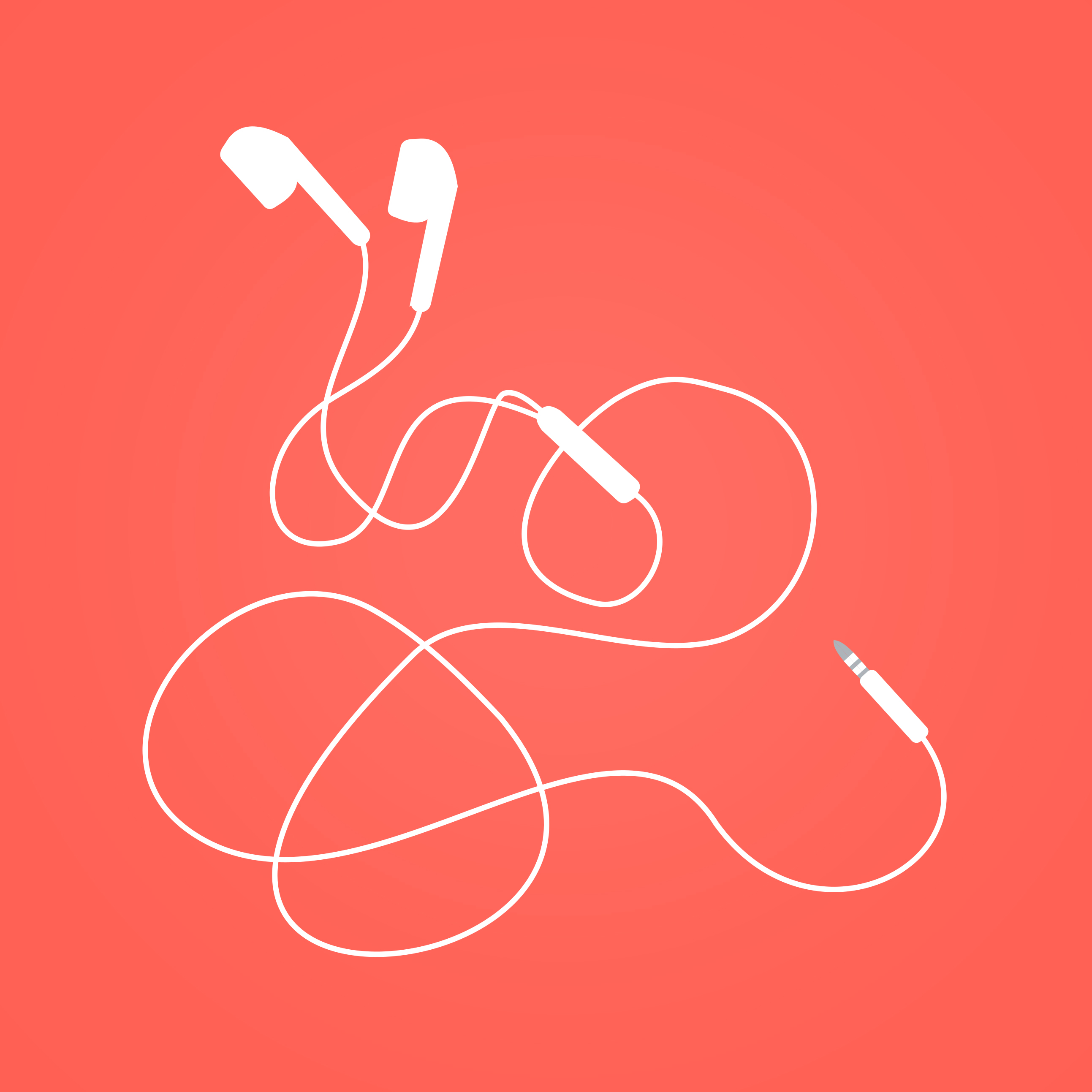 Earphones - earbuds isolated photo