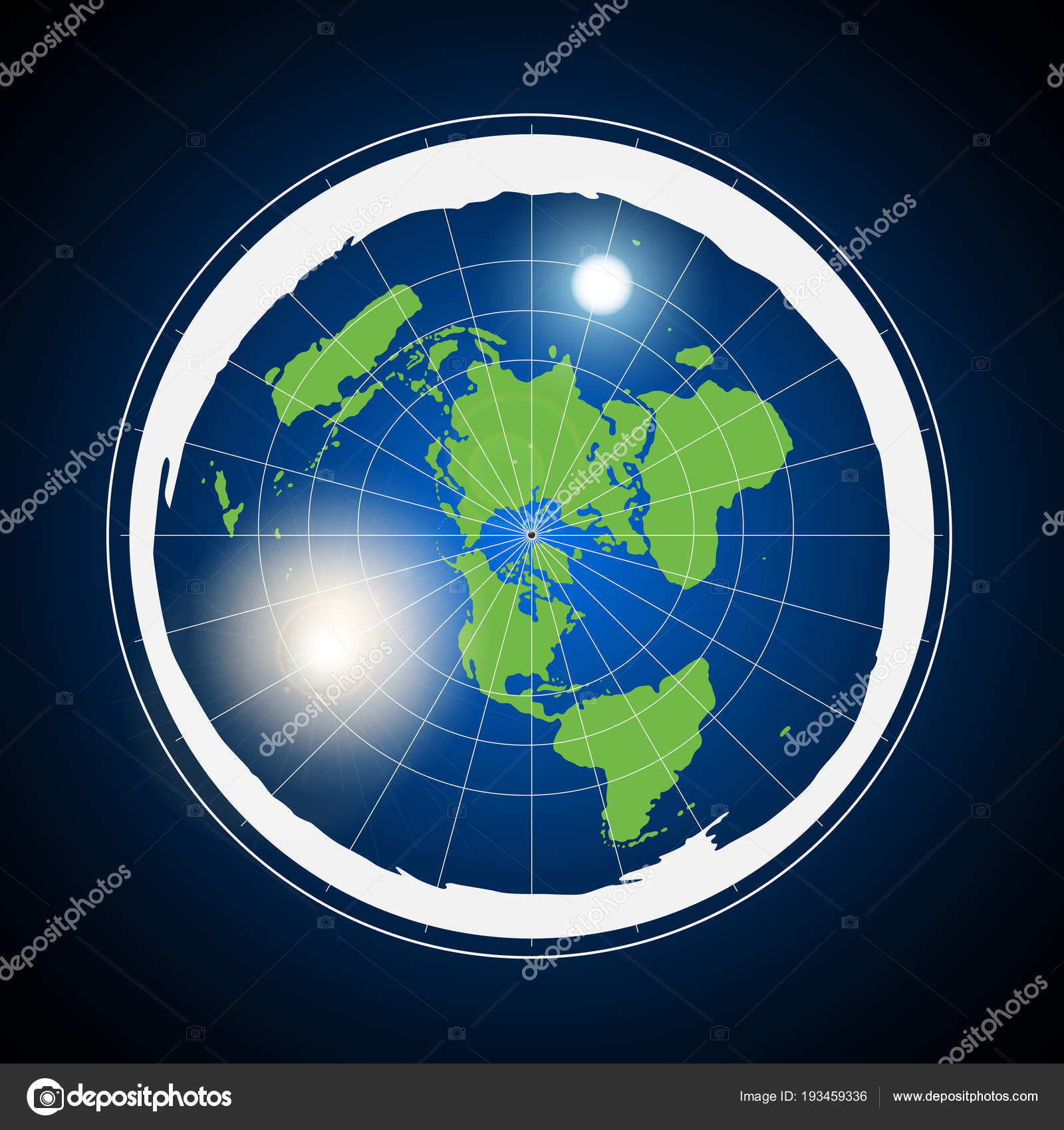 Flat Earth Illustration — Stock Vector © nmarques74 #193459336
