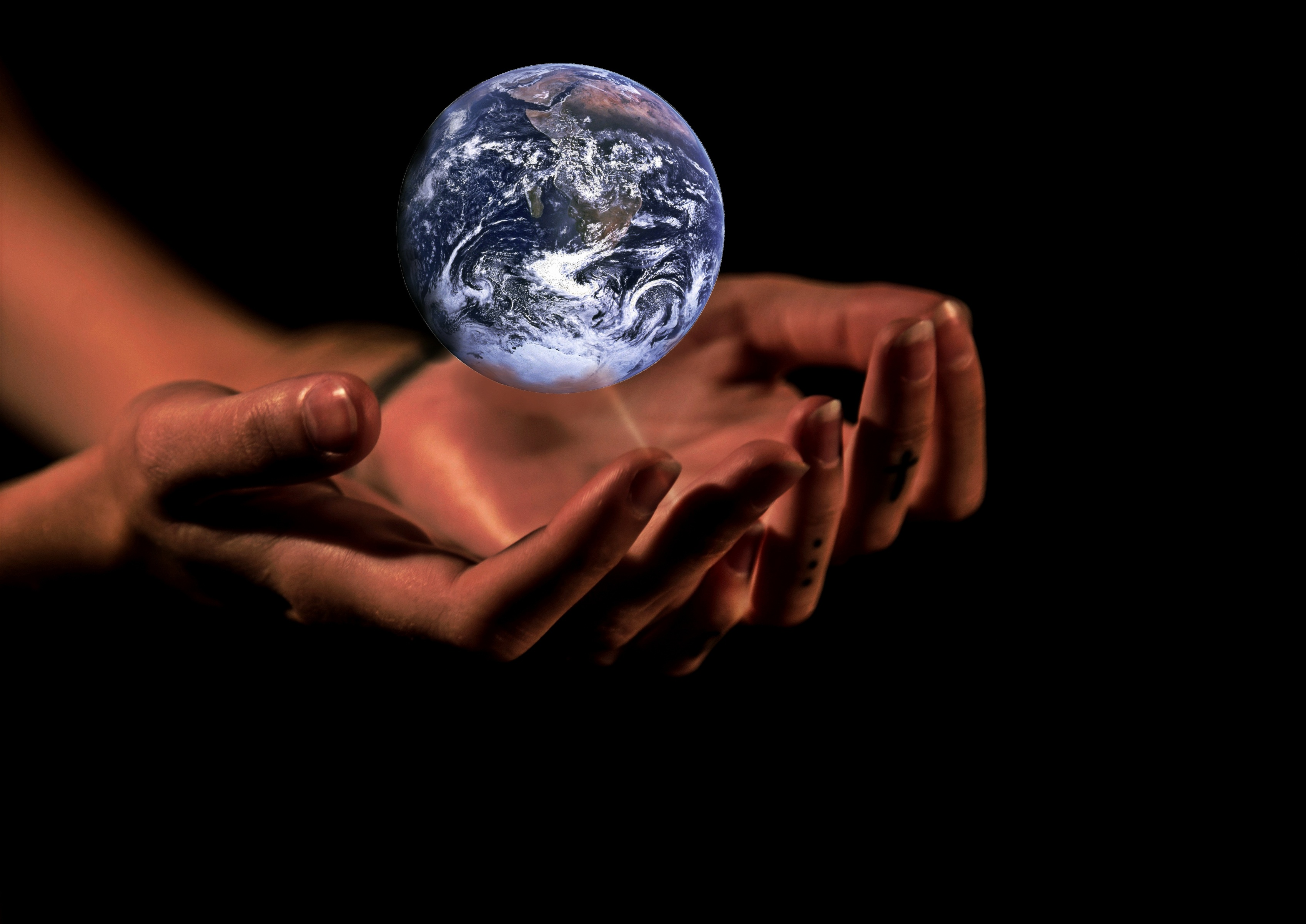 Earth in the Hands, Activity, Ball, Earth, Hands, HQ Photo
