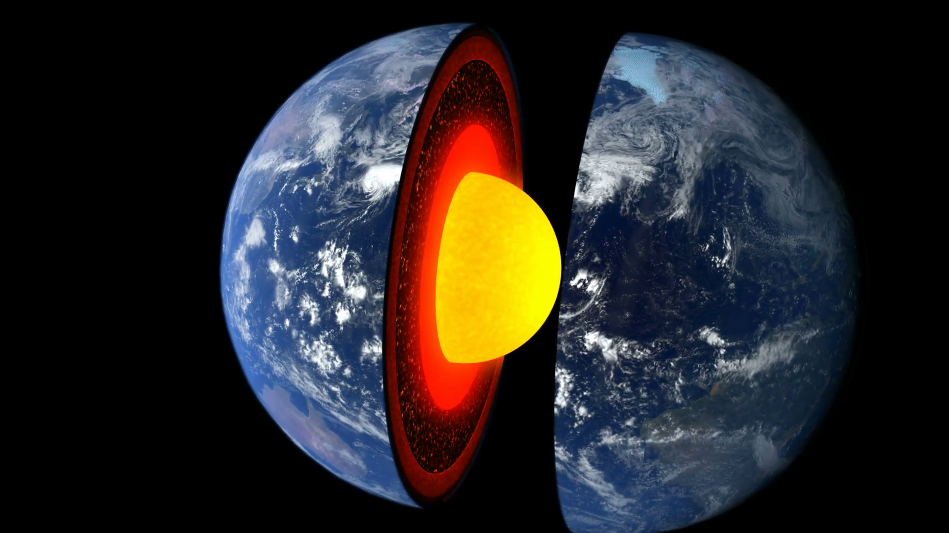 Earth cross section showing its internal structure Motion Background ...