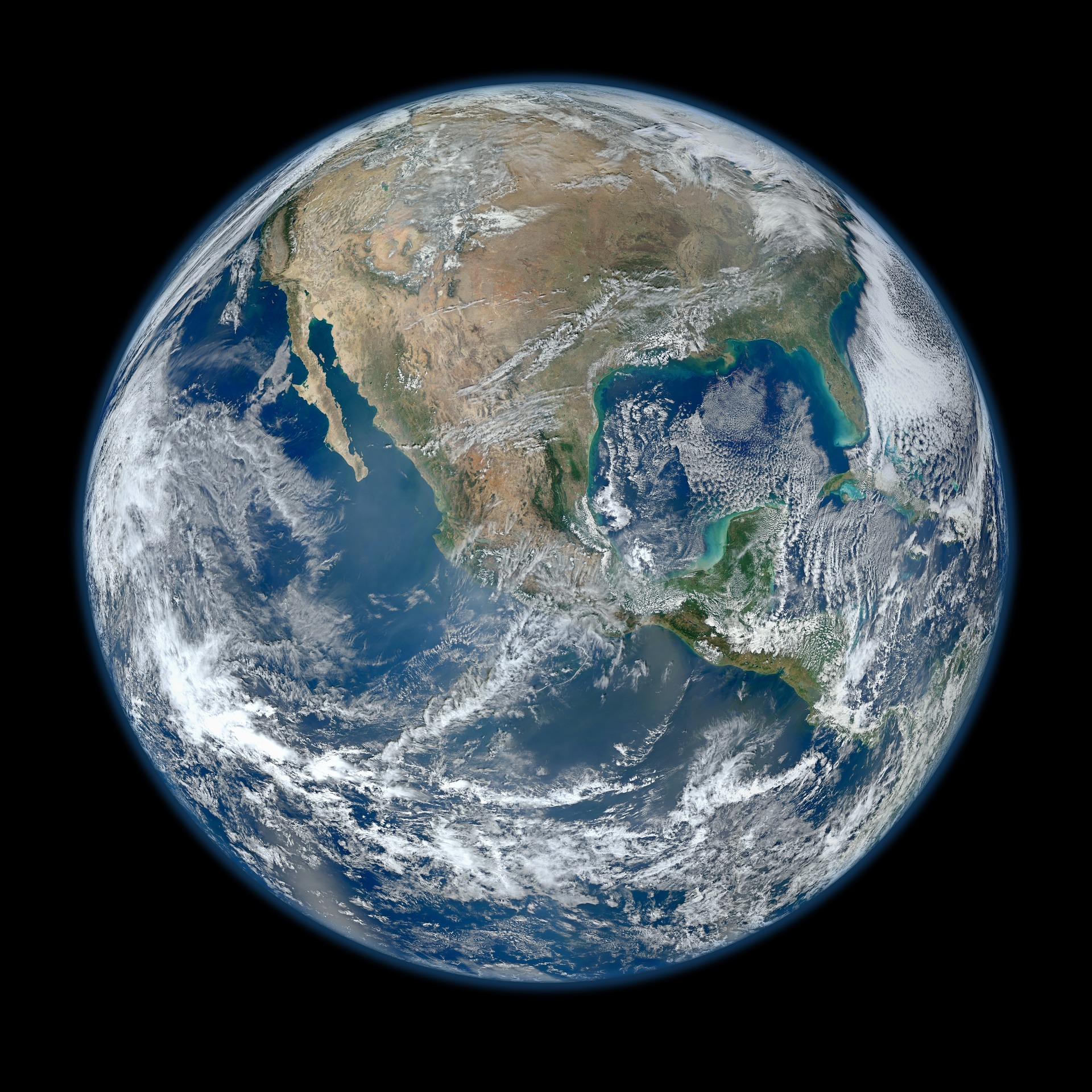 Earth seen from space photo