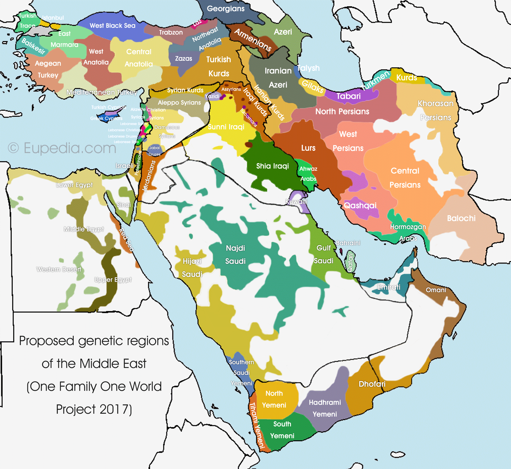 Middle East Regional DNA Project - Eupedia