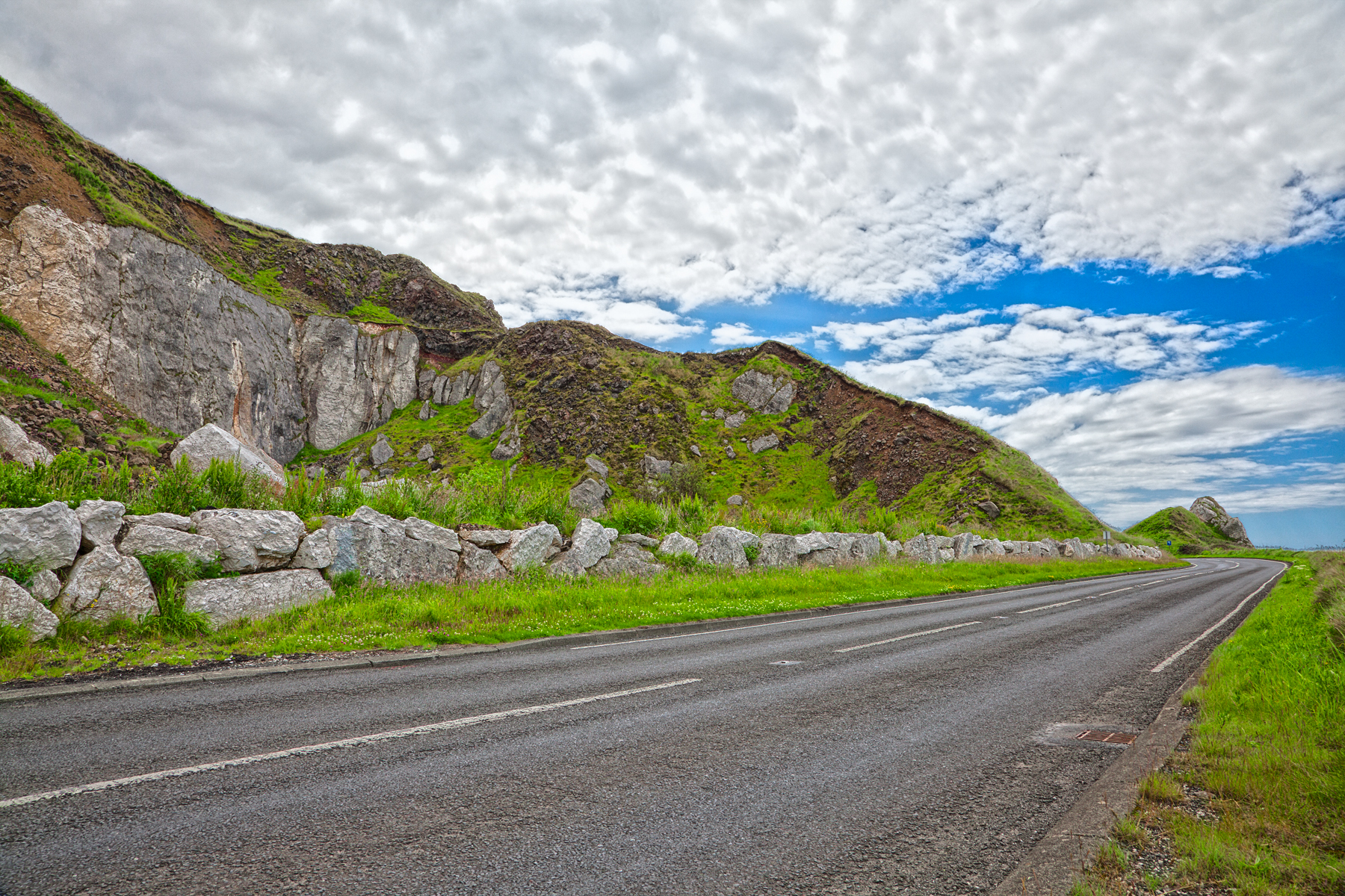 East antrim country road - hdr photo