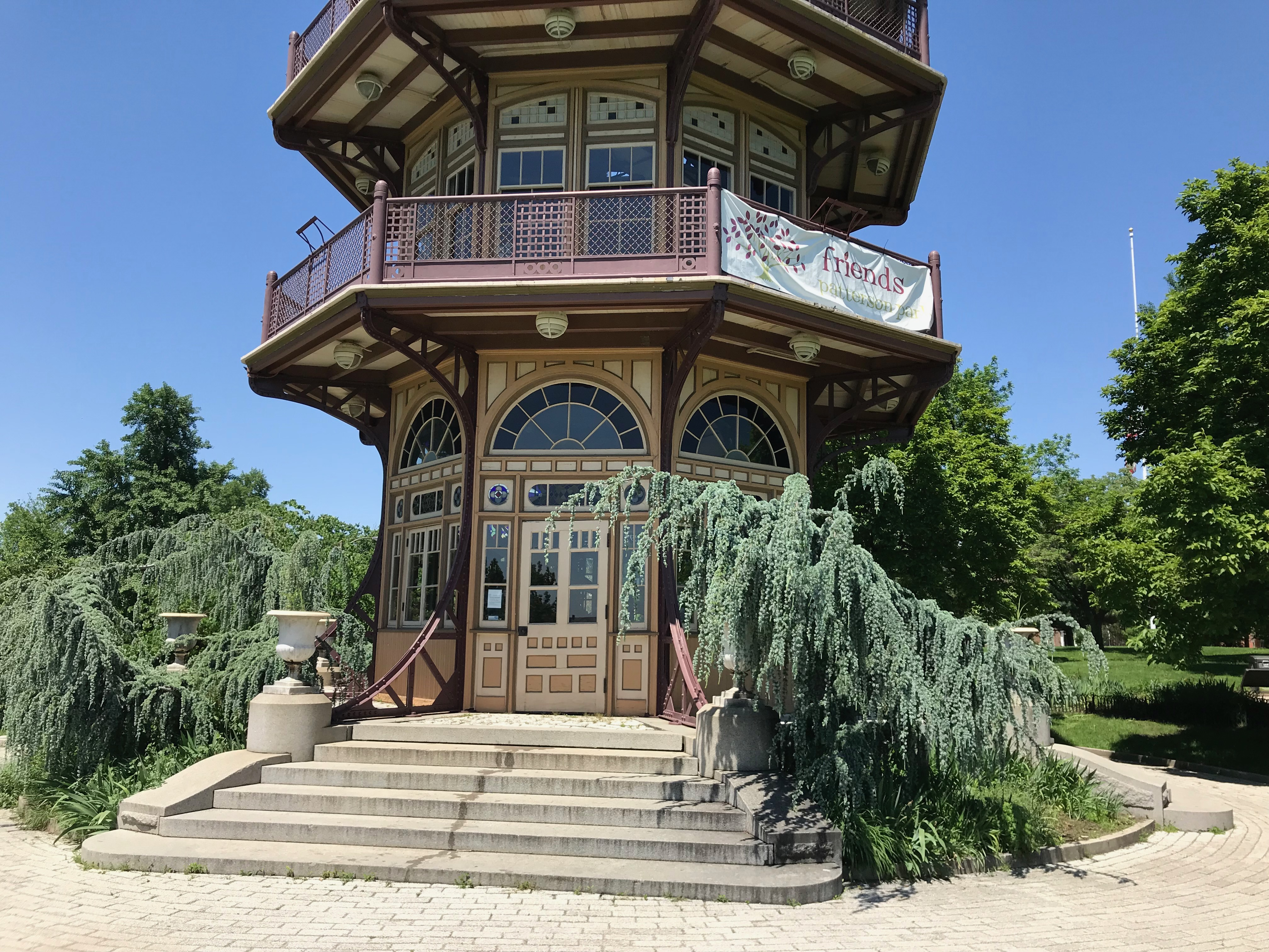 East side, Patterson Park Pagoda, Patterson Park near E. Pratt Street and S. Patterson Park Avenue, Baltimore, MD 21231, Architecture, Baltimore, Building, Maryland, HQ Photo
