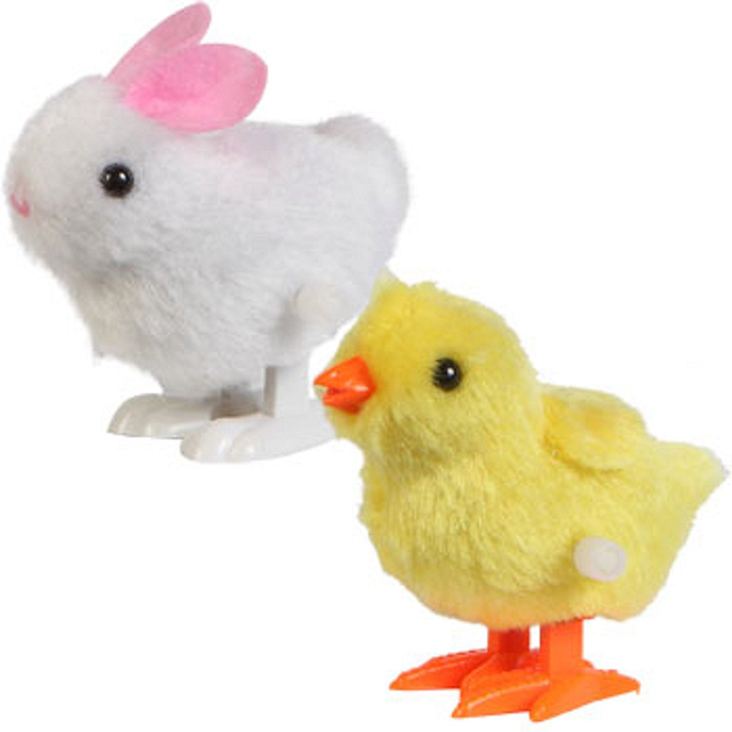 Amazon.com: Hopping Wind Up Easter Chick and Bunny by Greenbriar ...
