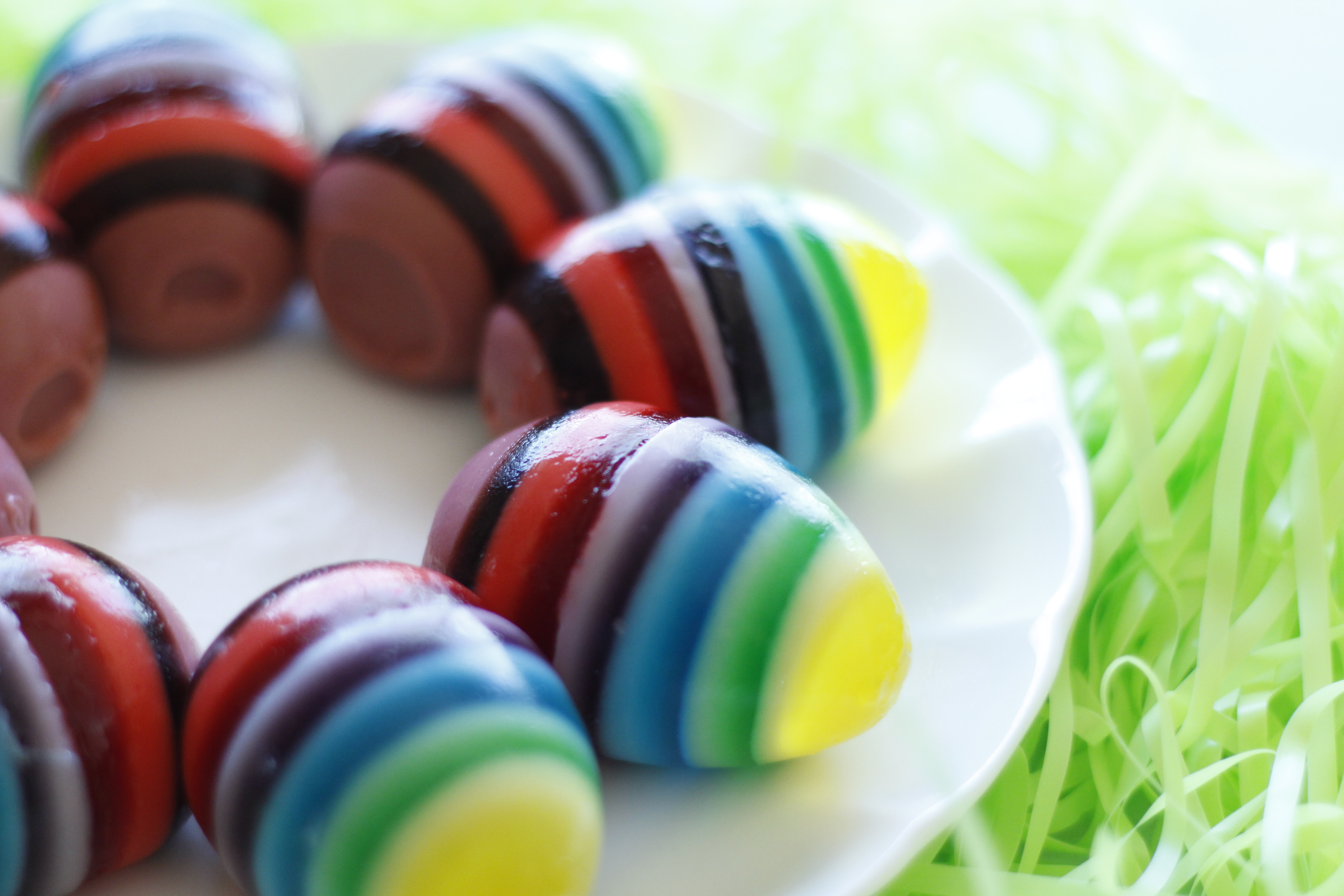 Rainbow Jello Easter Eggs - Eat, Think & Be Merry