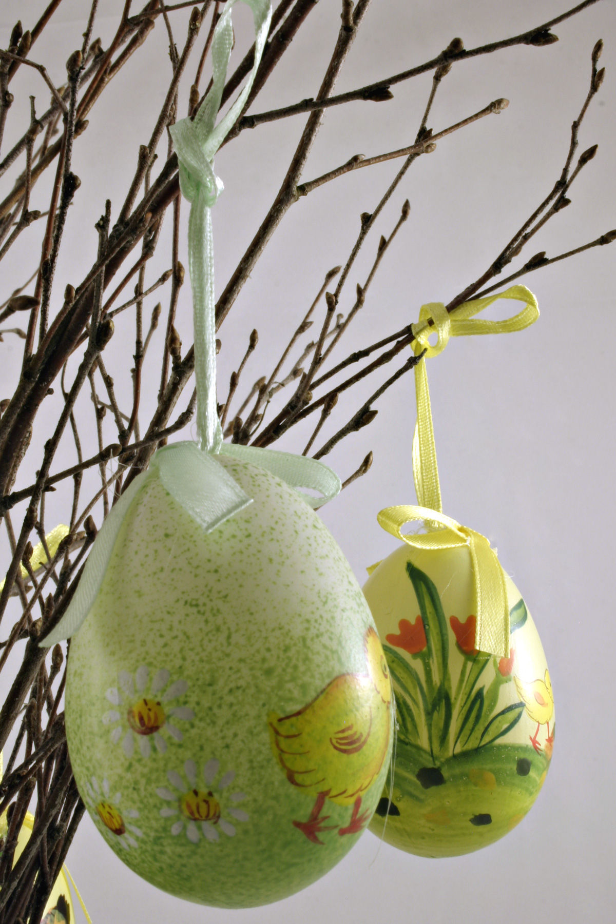 Easter eggs, Branches, Easter, Eggs, Green, HQ Photo