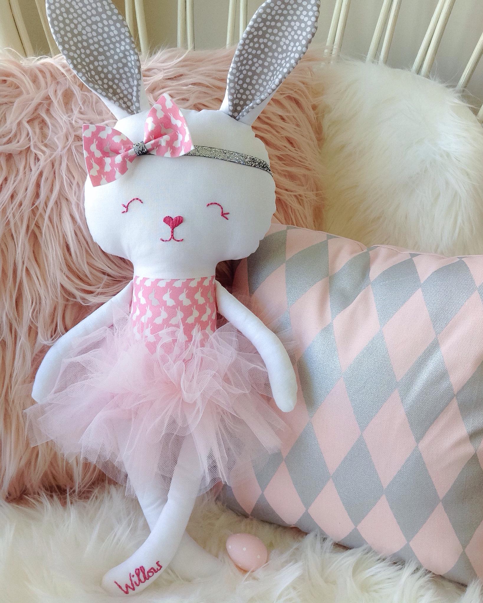 Easter rabbit dolls photo