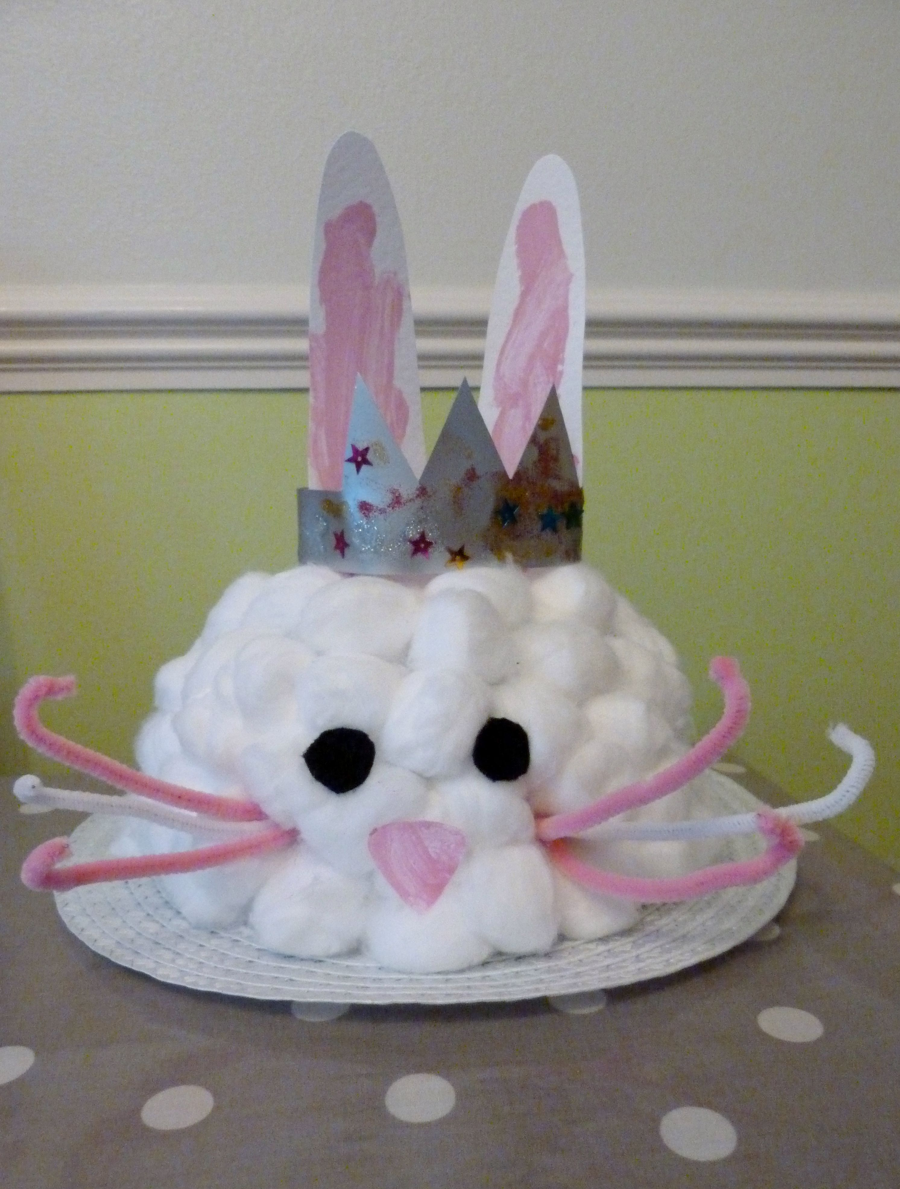 Easter rabbit with a hat photo