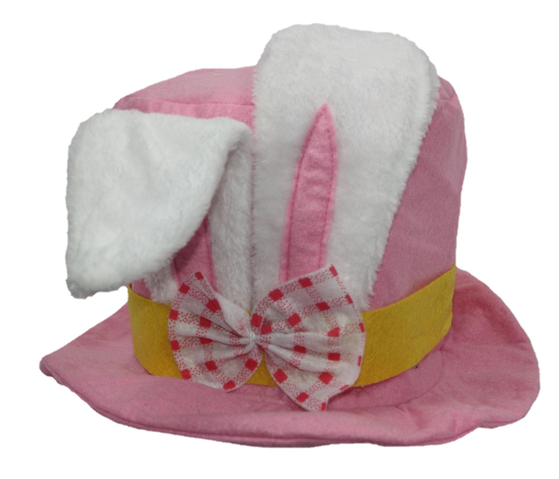 Felt Easter Top Hat with Novelty Bunny Rabbit Ears Fancy Dress ...