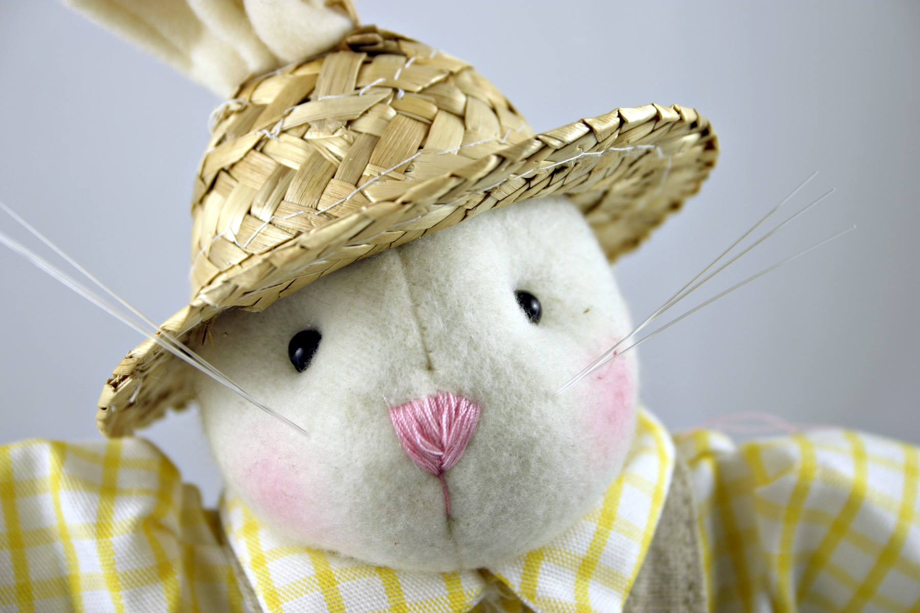 Easter rabbit with a hat, Animal, Cute, Doll, Easter, HQ Photo