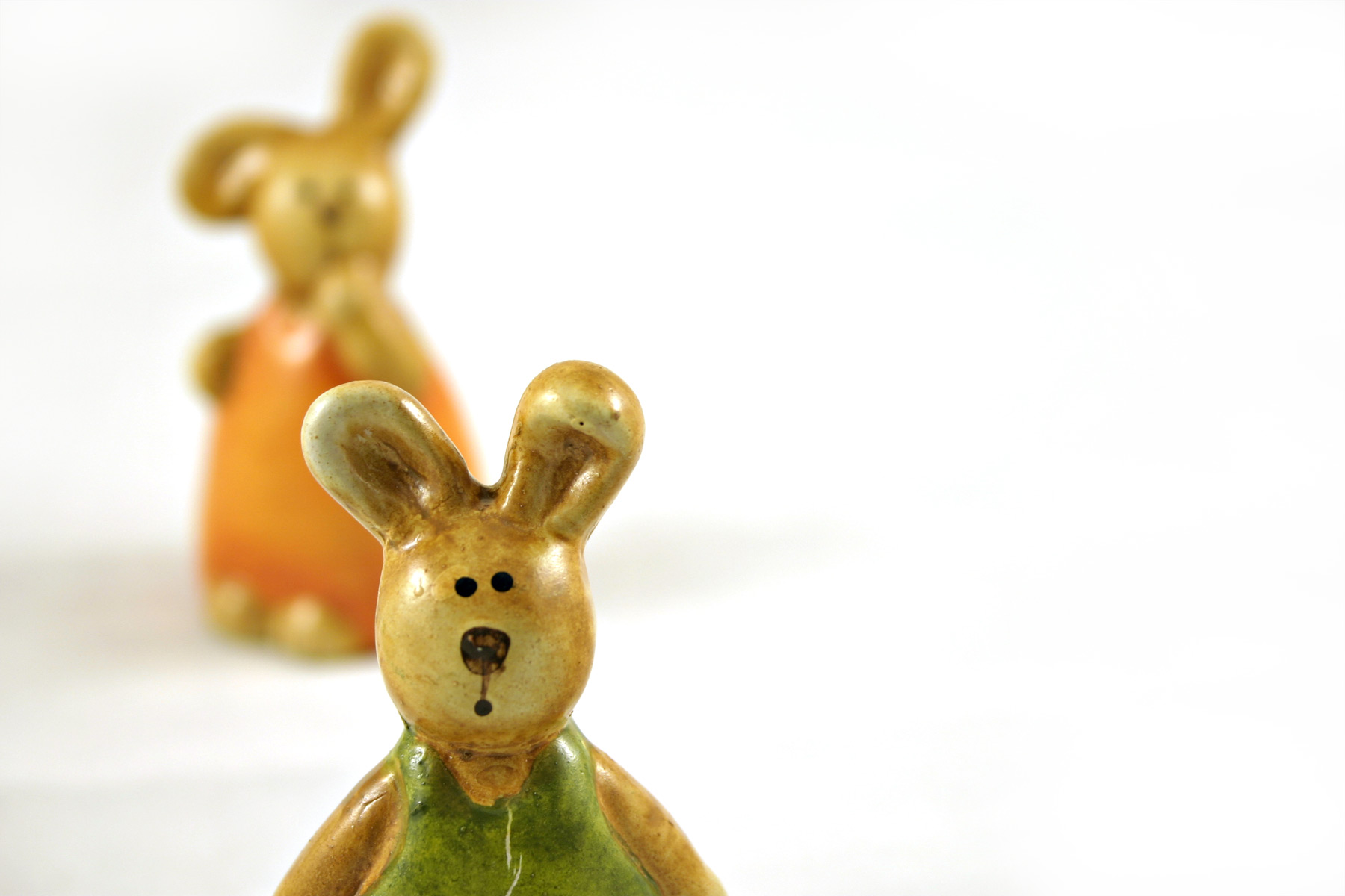 Easter rabbits - one closeup, Cute, Easter, Glass, Green, HQ Photo