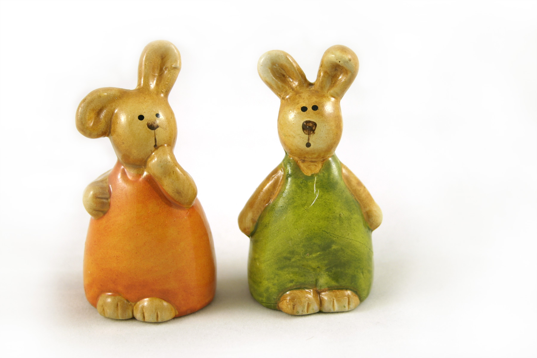 Easter rabbits, Cute, Easter, Glass, Green, HQ Photo
