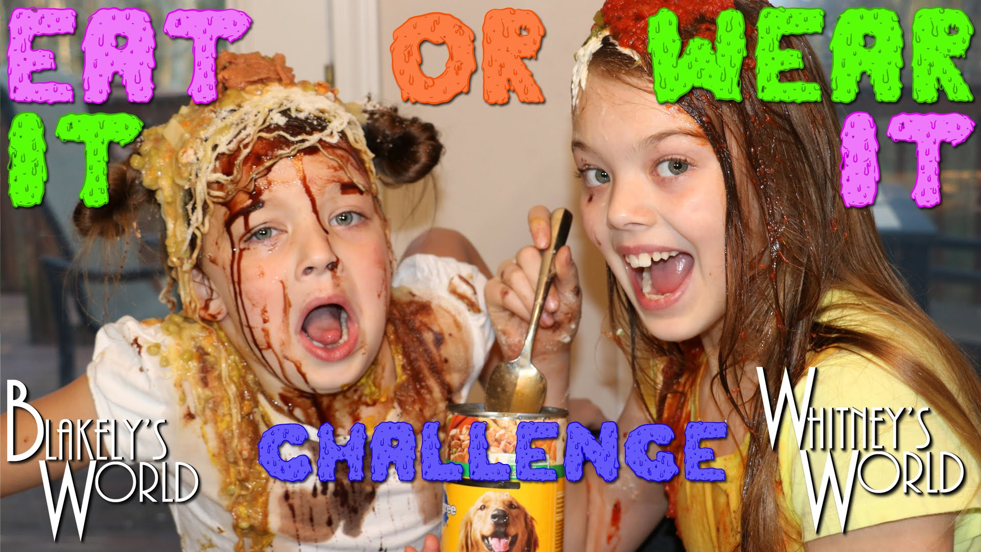 EAT IT or WEAR IT Challenge | Whitney and Blakely - YouTube