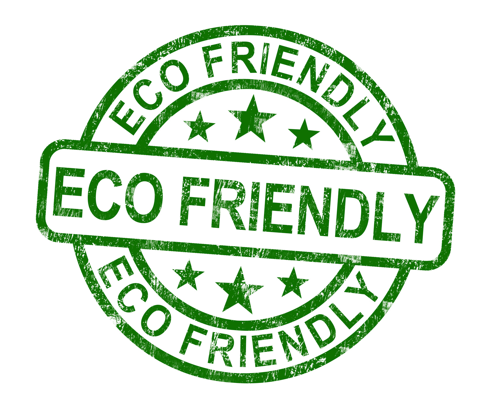 Eco Friendly Stamp As Symbol
