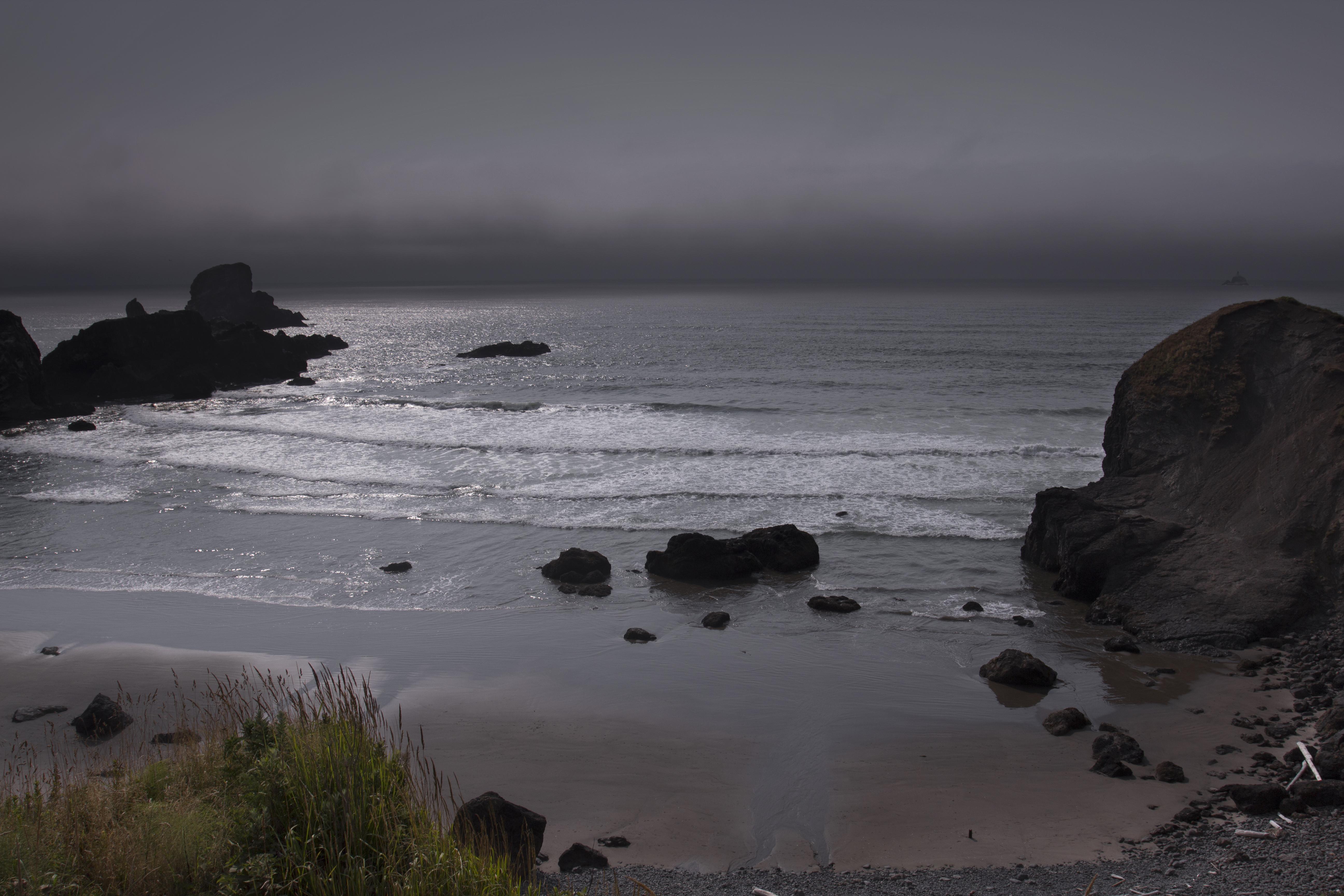 Ecola State Park Beach, Oregon, Beach, Sand, Water, Sunset, HQ Photo