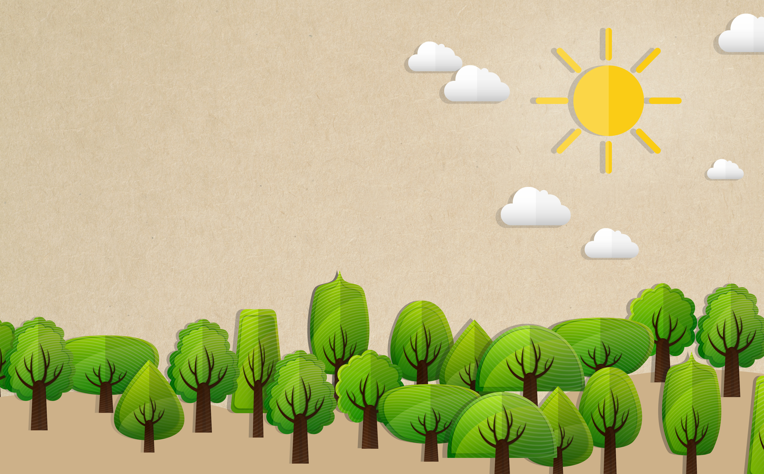 Ecology concept with trees - with copyspace photo