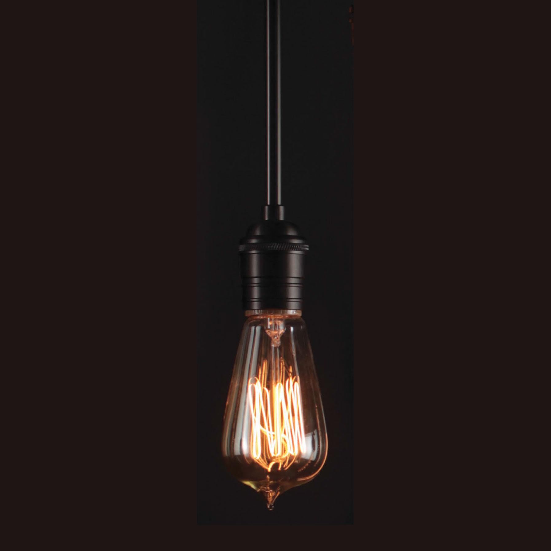 Retro Tube Edison Filament 60 Watt Light Bulb by Stone Lighting ...