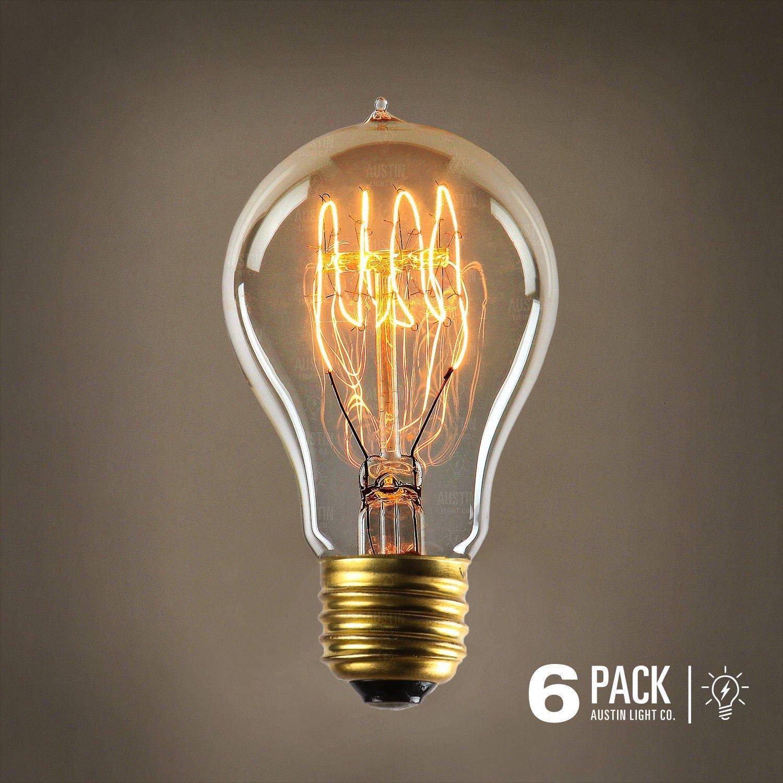 Edison light bulb - 6 Pack - The Barton - 40 Watt Bulb - Choose from ...