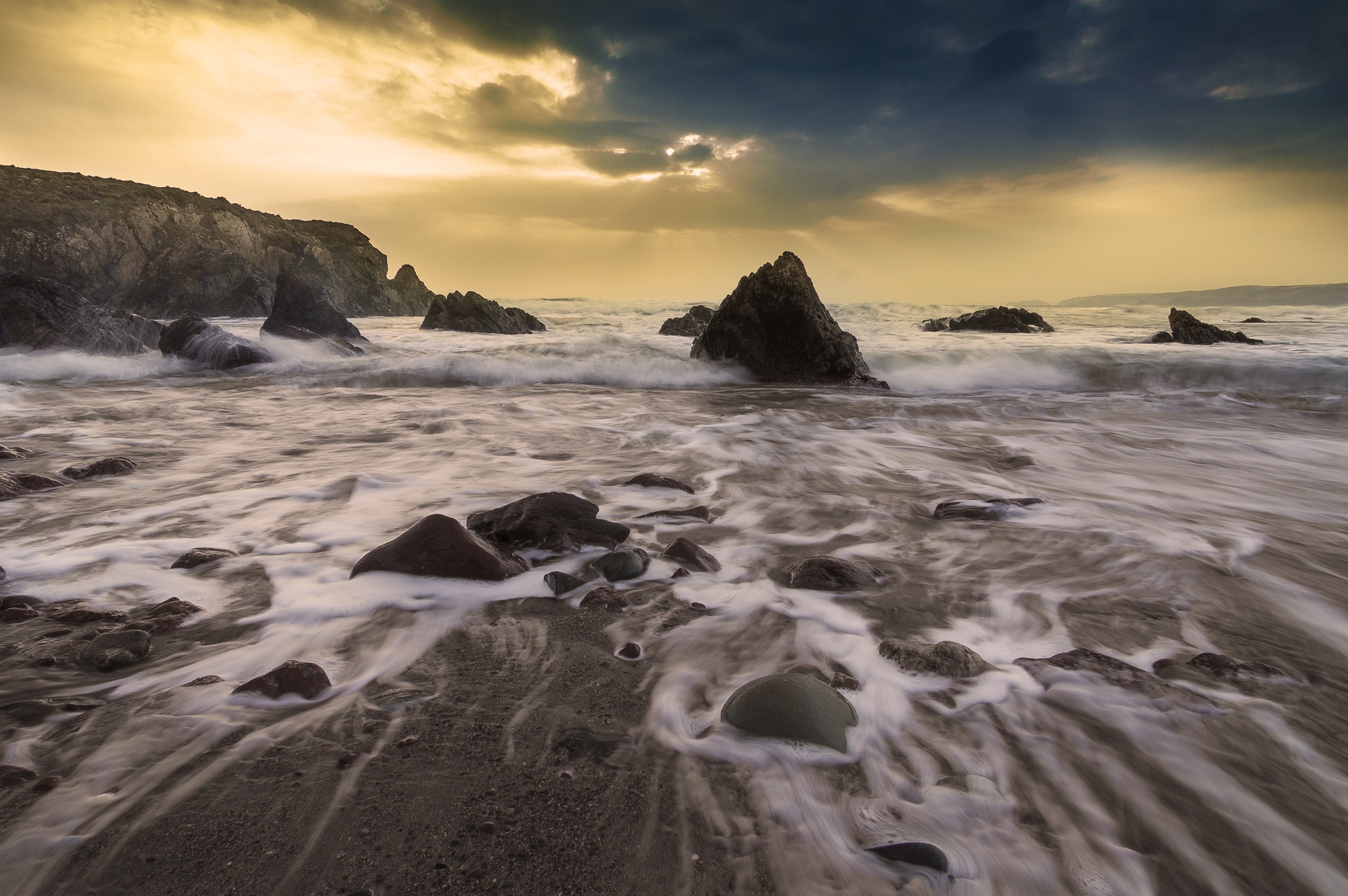 Edit, Beach, Flow, Landscape, Rock, HQ Photo