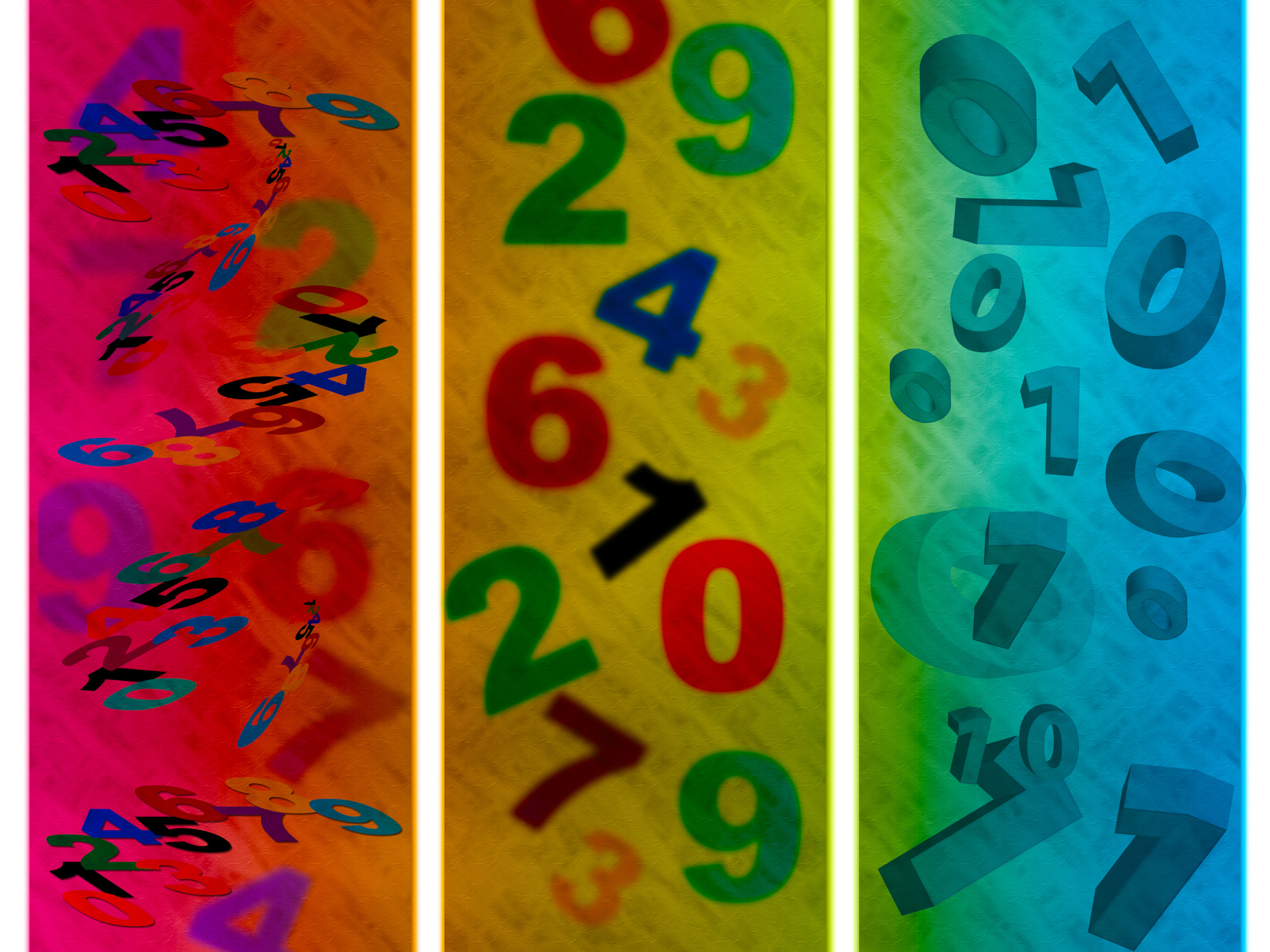 Education Numbers Shows Count Digits And Abstract, Backdrop, Education, Studying, Spectrum, HQ Photo