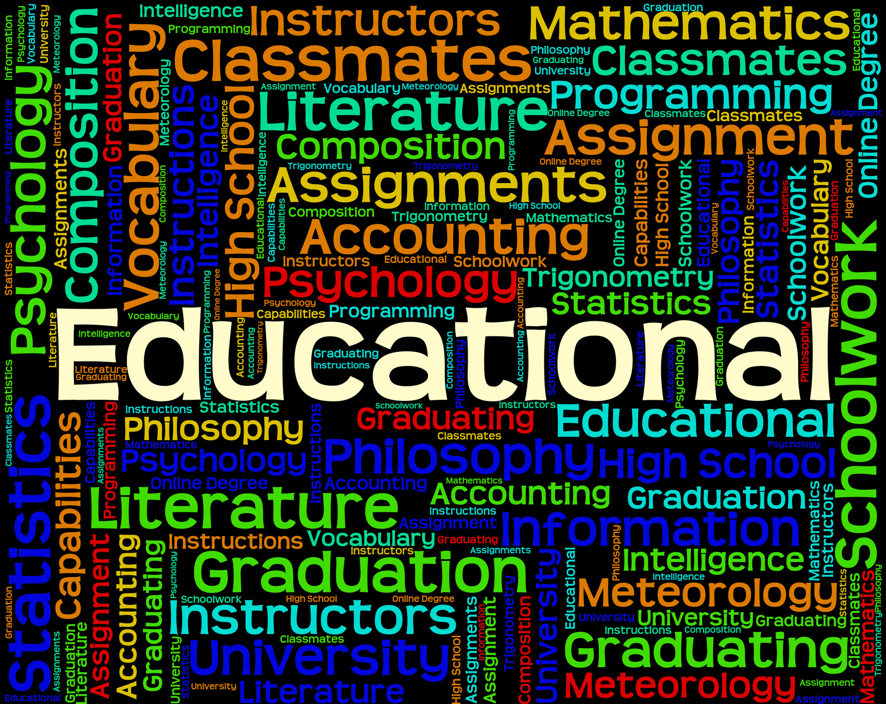 Educational Word Represents College Learned And University, College, Schooling, Word, University, HQ Photo