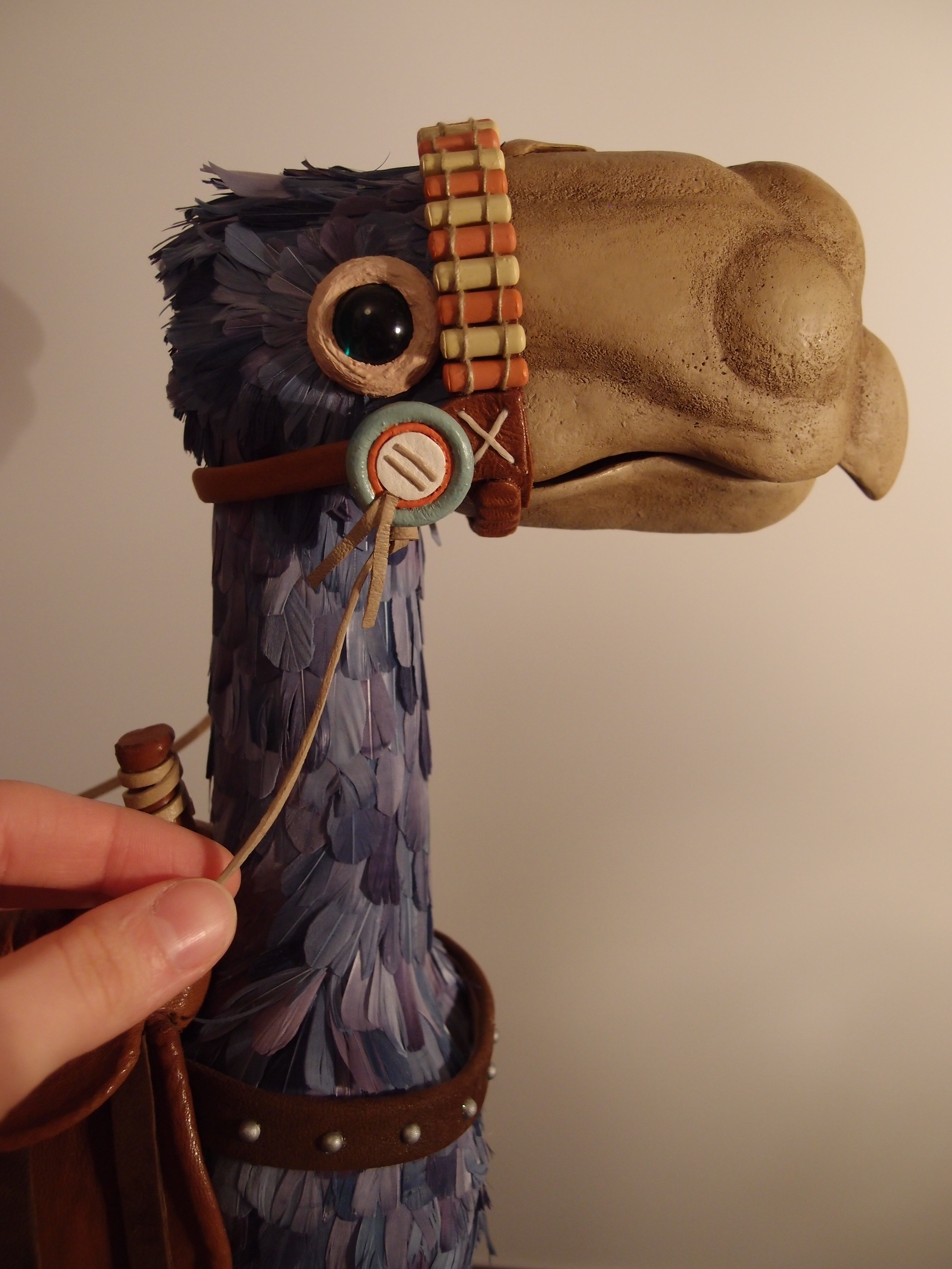 Stop motion puppet horseclaw bird Kai Nausicaa of the Valley of the ...
