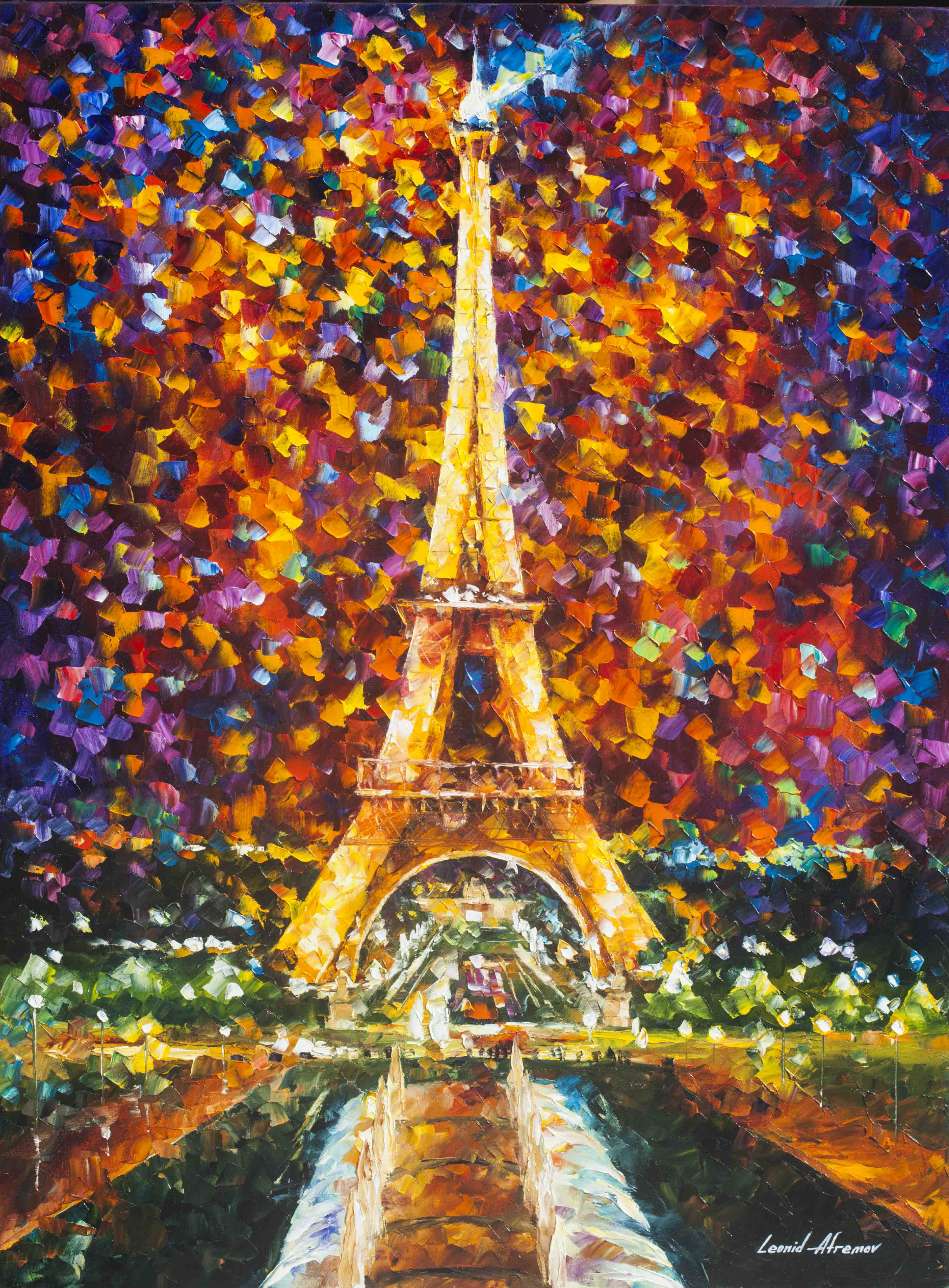 EIFFEL TOWER MEMORIES - Palette Knife Oil Painting On Canvas By ...