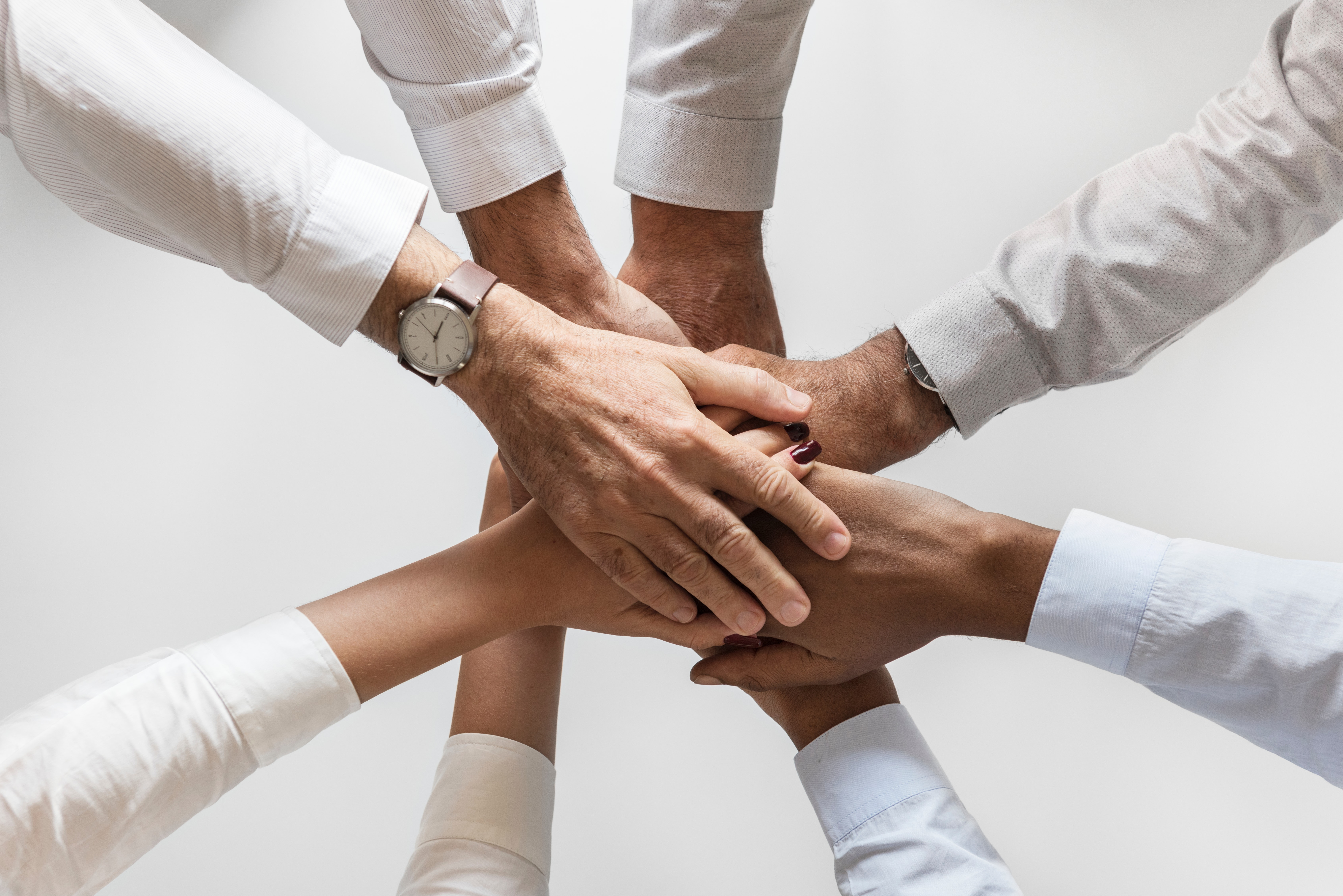 Eight Person Huddling, Collaboration, Friendship, Hands, Holding hands, HQ Photo
