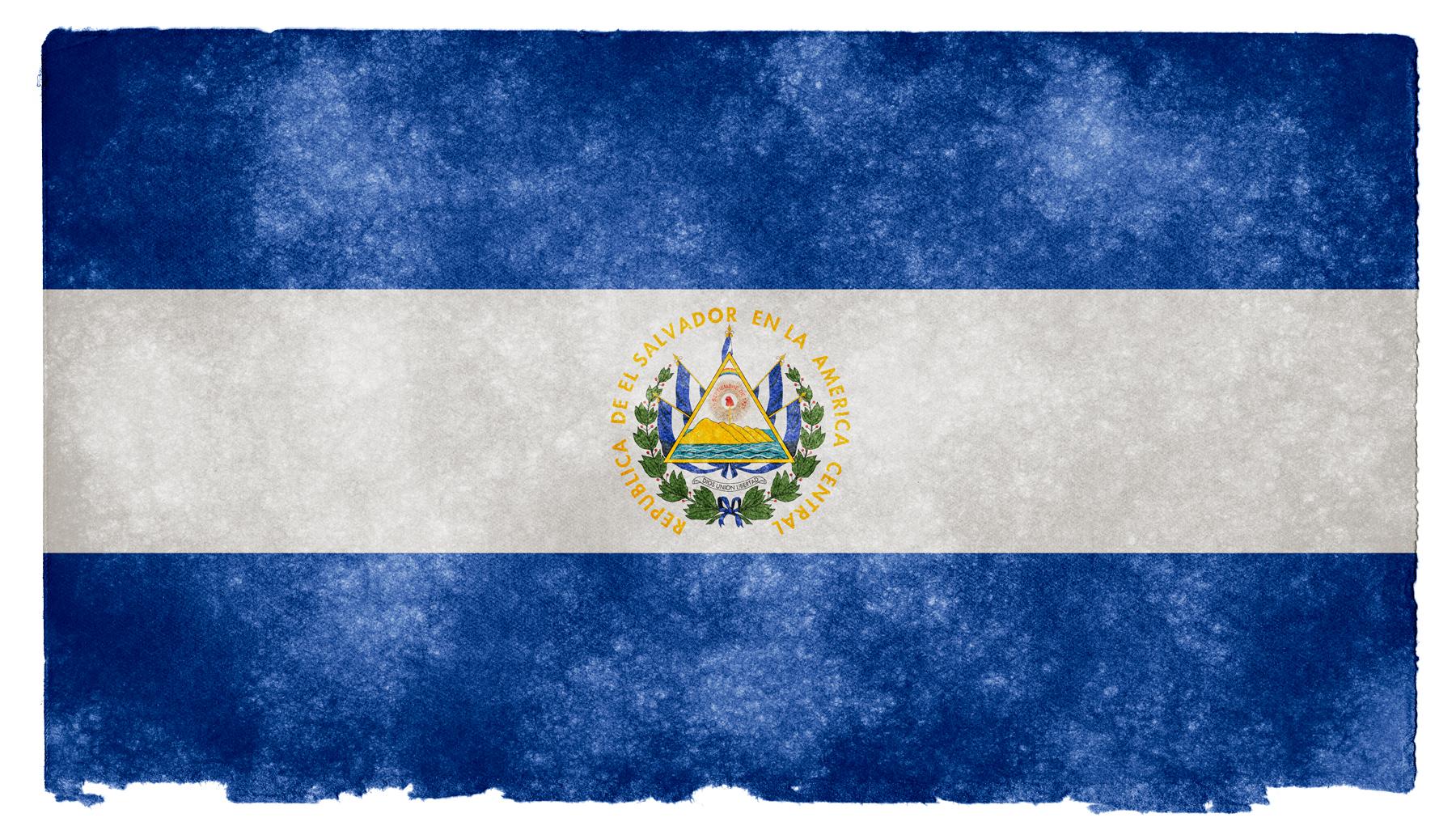 El Salvador Grunge Flag, Aged, Retro, Nation, National, HQ Photo