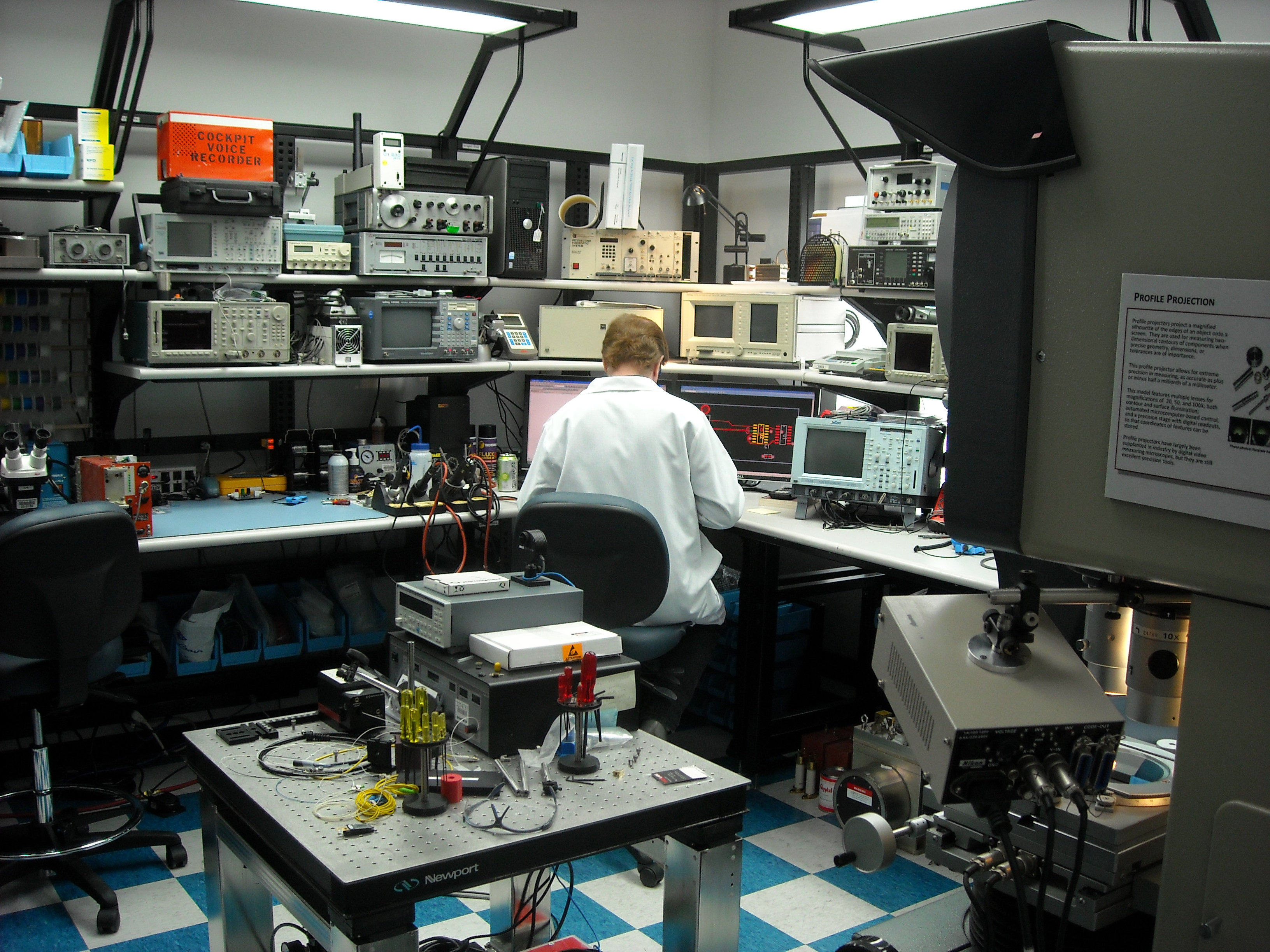 Free Photo Electronics Lab Workers Workplace Shop