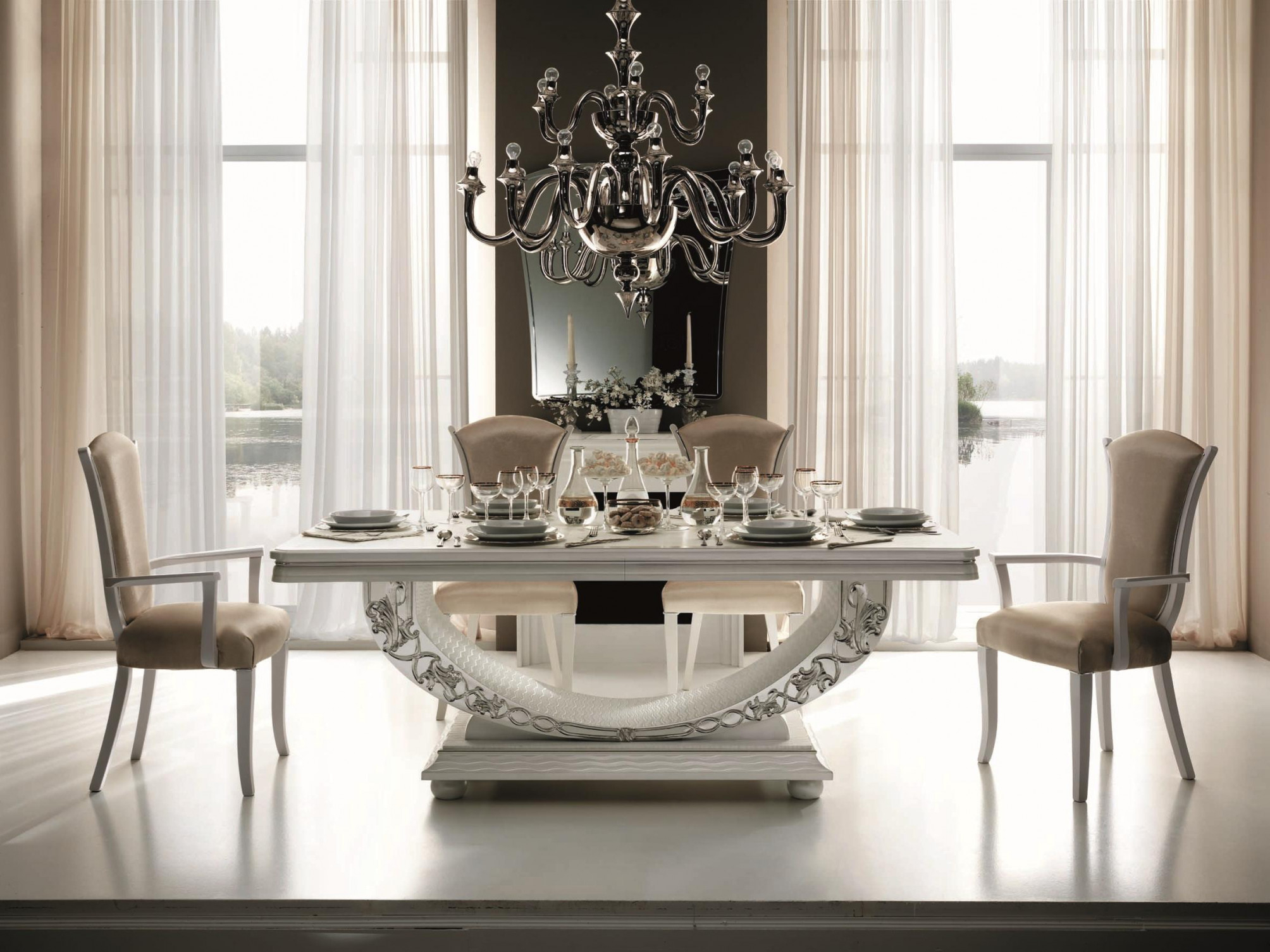 Free photo: Elegant Dining Table - Glass, Turntable ...