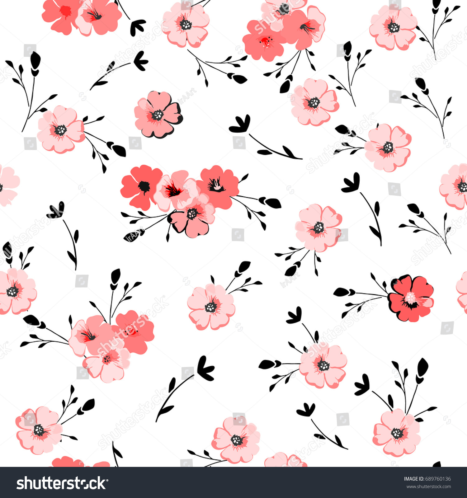 Elegant Floral Pattern Seamless Vintage Background Stock Vector HD ...